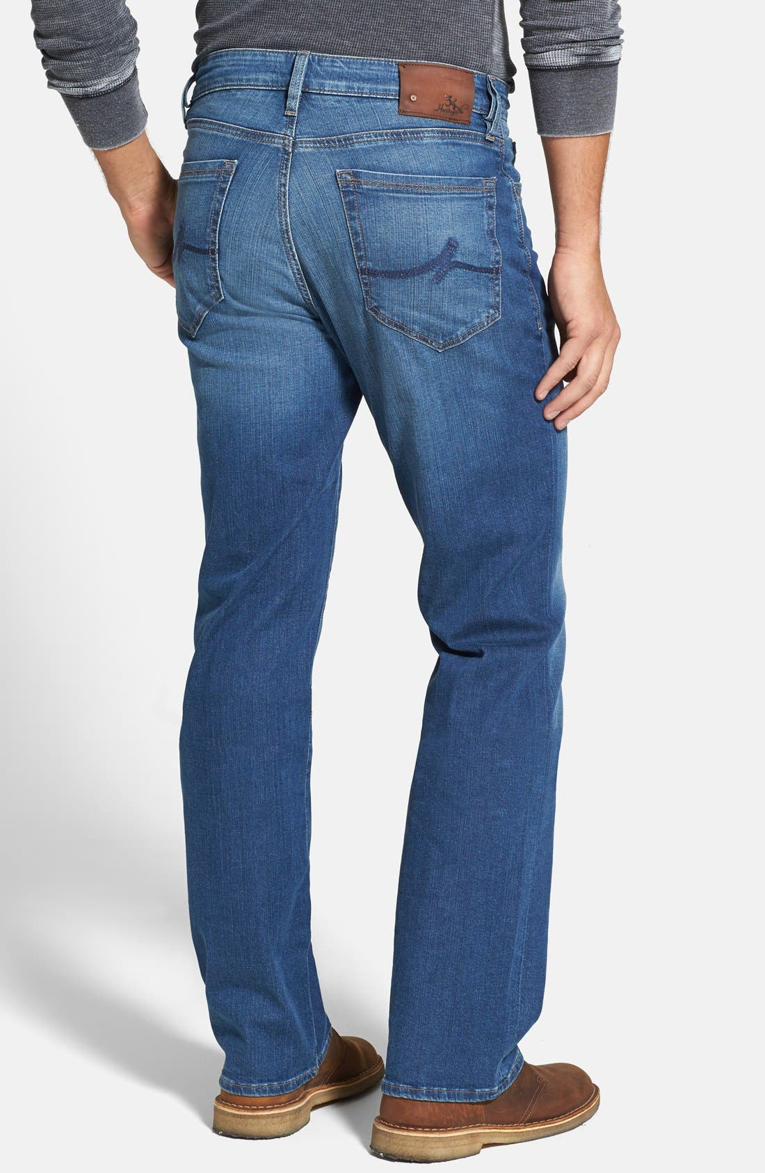'Charisma' Classic Relaxed Fit Jeans,                             Alternate thumbnail 7, color,                             MID CASHMERE