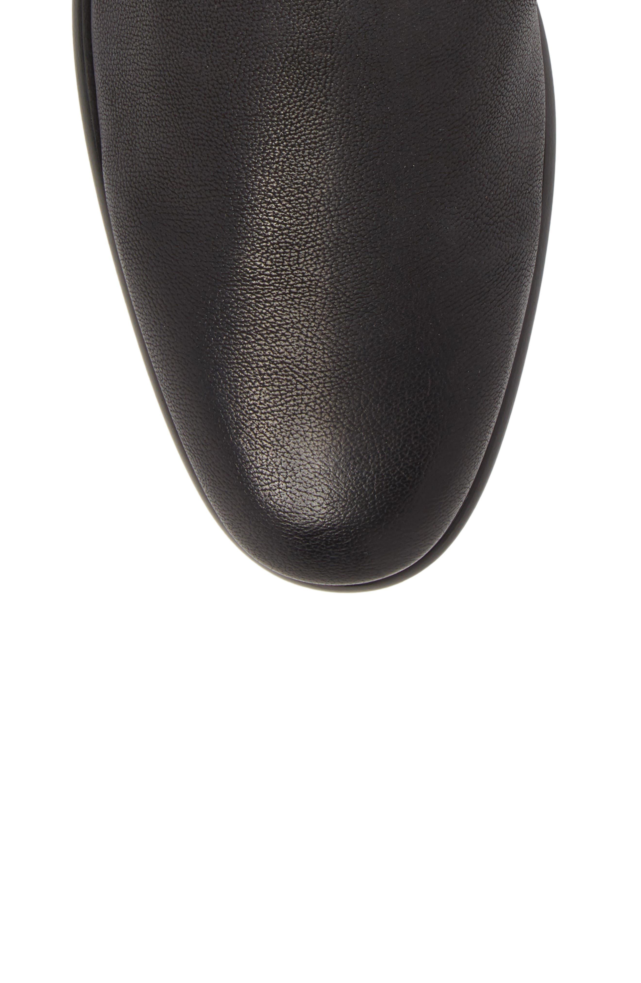 Aldous Chelsea Boot,                             Alternate thumbnail 5, color,                             BLACK LEATHER
