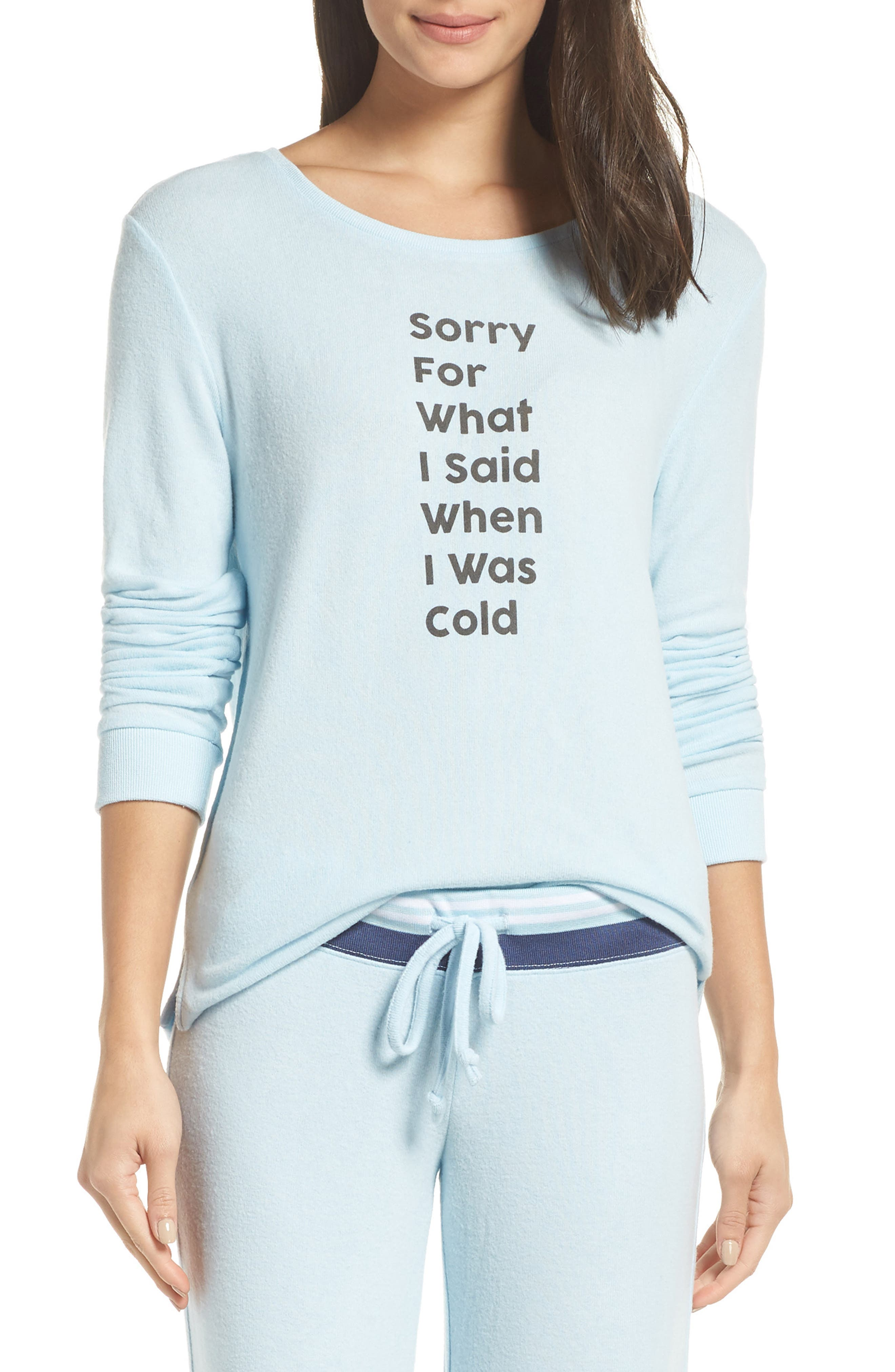 Too Cool Pullover,                         Main,                         color, BLUE OMPHALODES