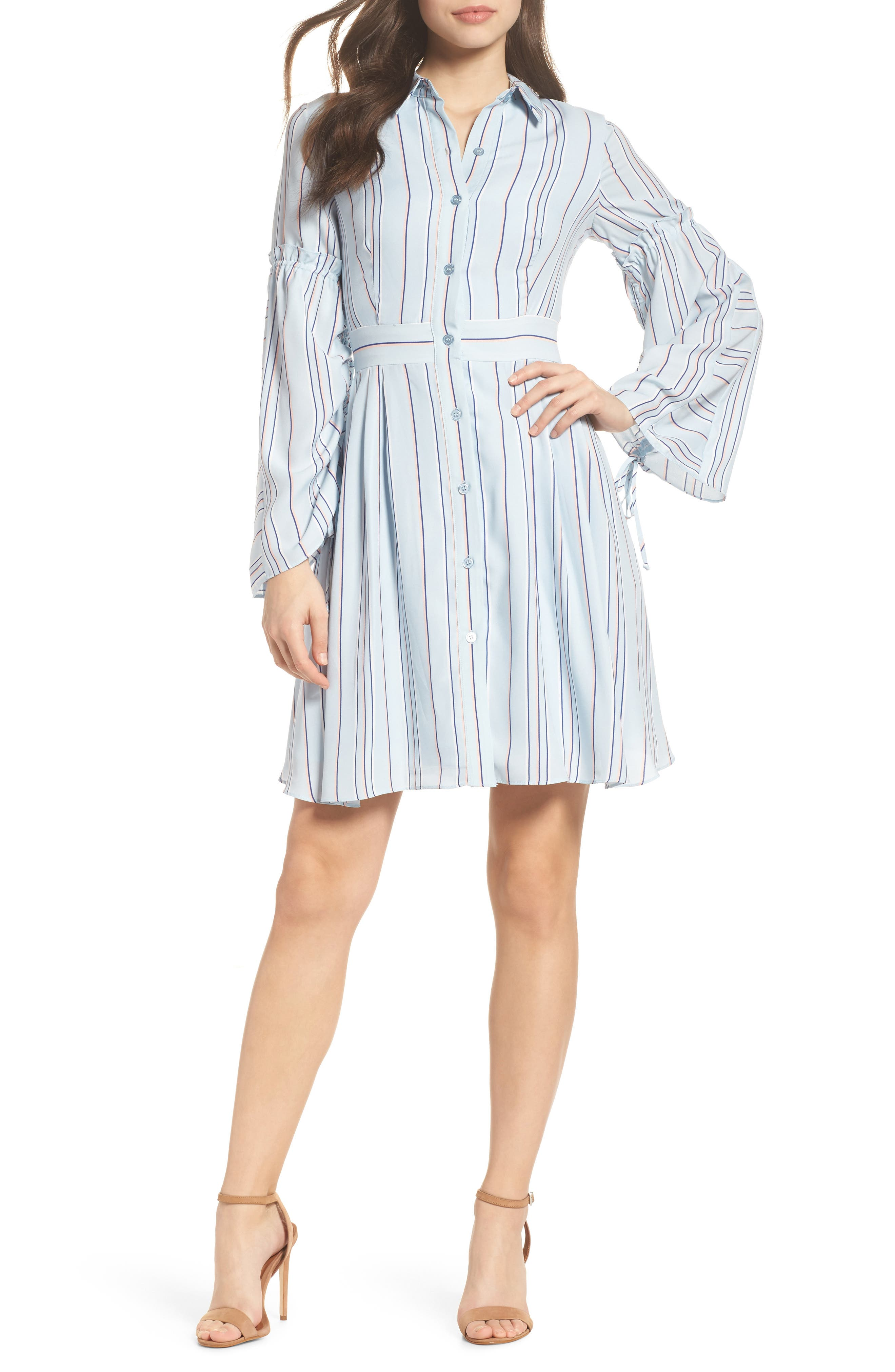 Stripe Shirtdress,                         Main,                         color,