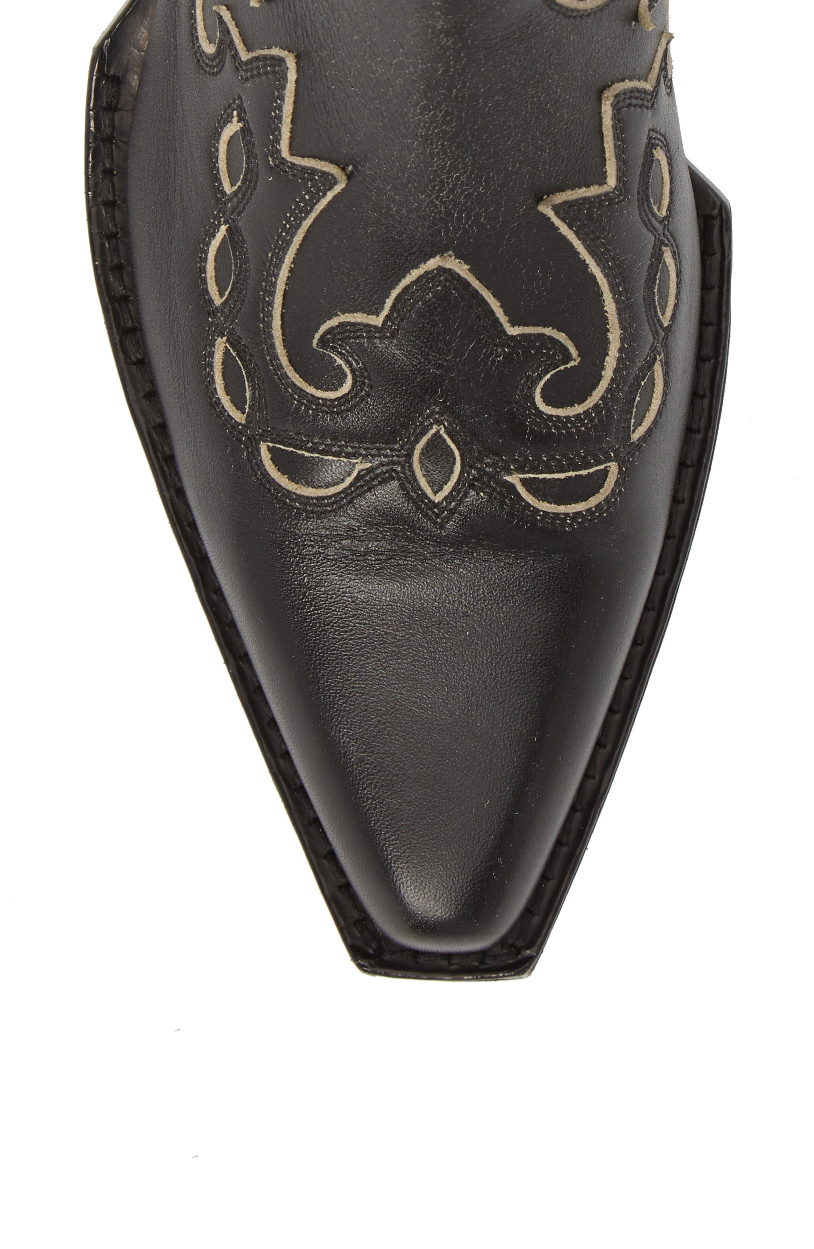 Cal Calvert Cowboy Boot,                             Alternate thumbnail 5, color,                             001