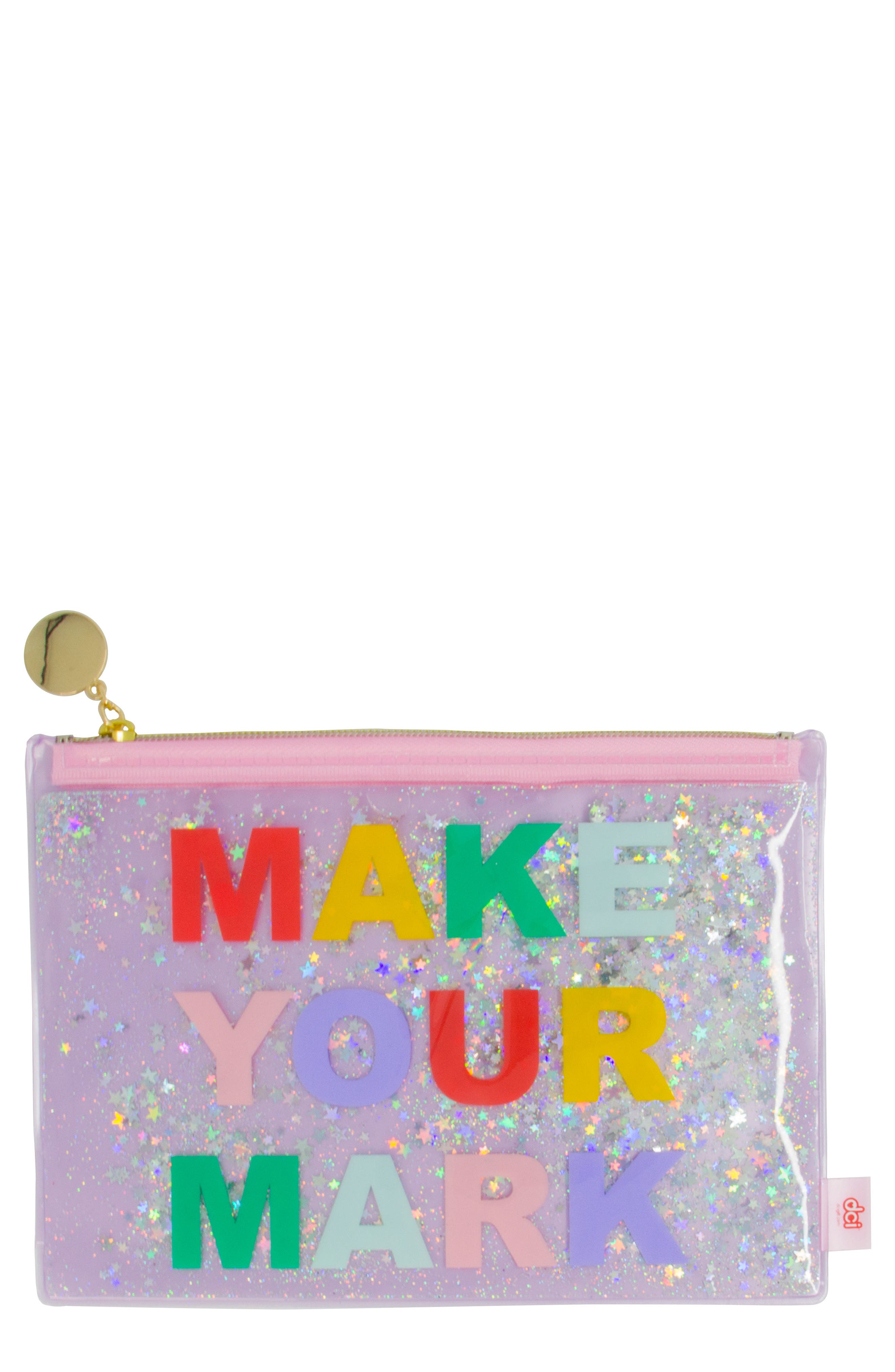 DCI,                             Make Your Mark Pouch,                             Main thumbnail 1, color,                             PINK