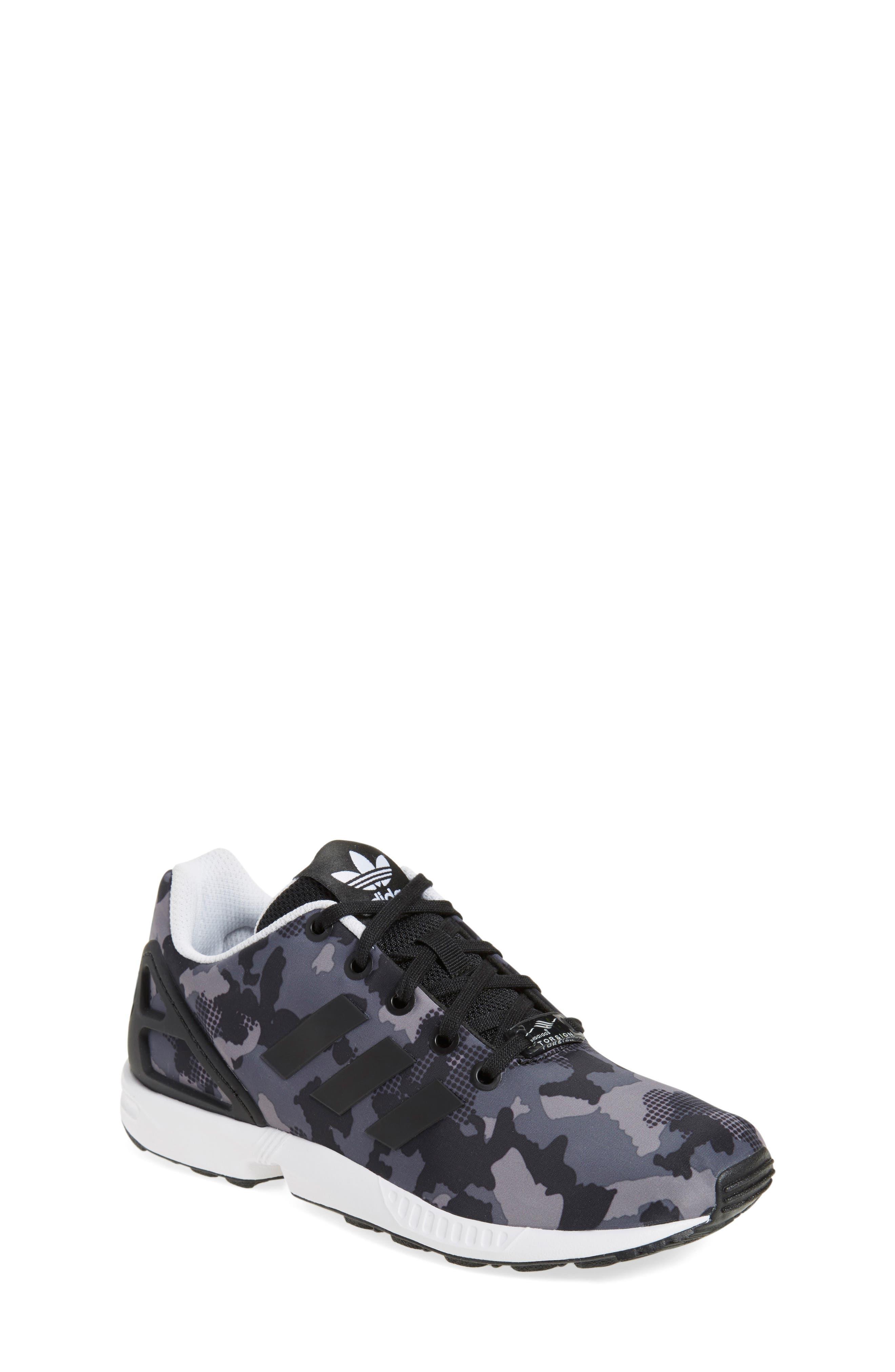 'ZX Flux EL' Sneaker,                             Alternate thumbnail 2, color,                             001