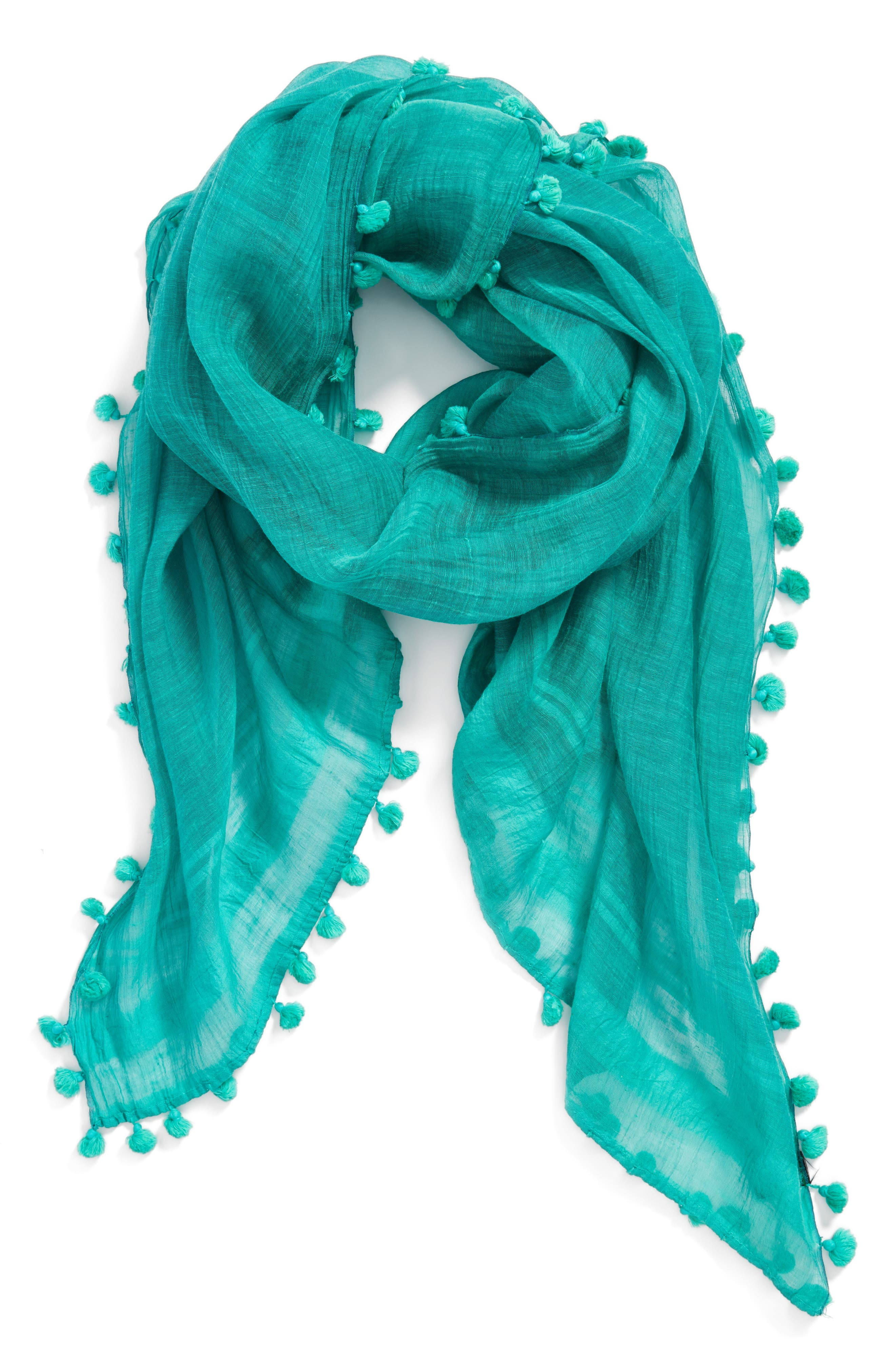 Cotton & Silk Scarf,                             Alternate thumbnail 11, color,