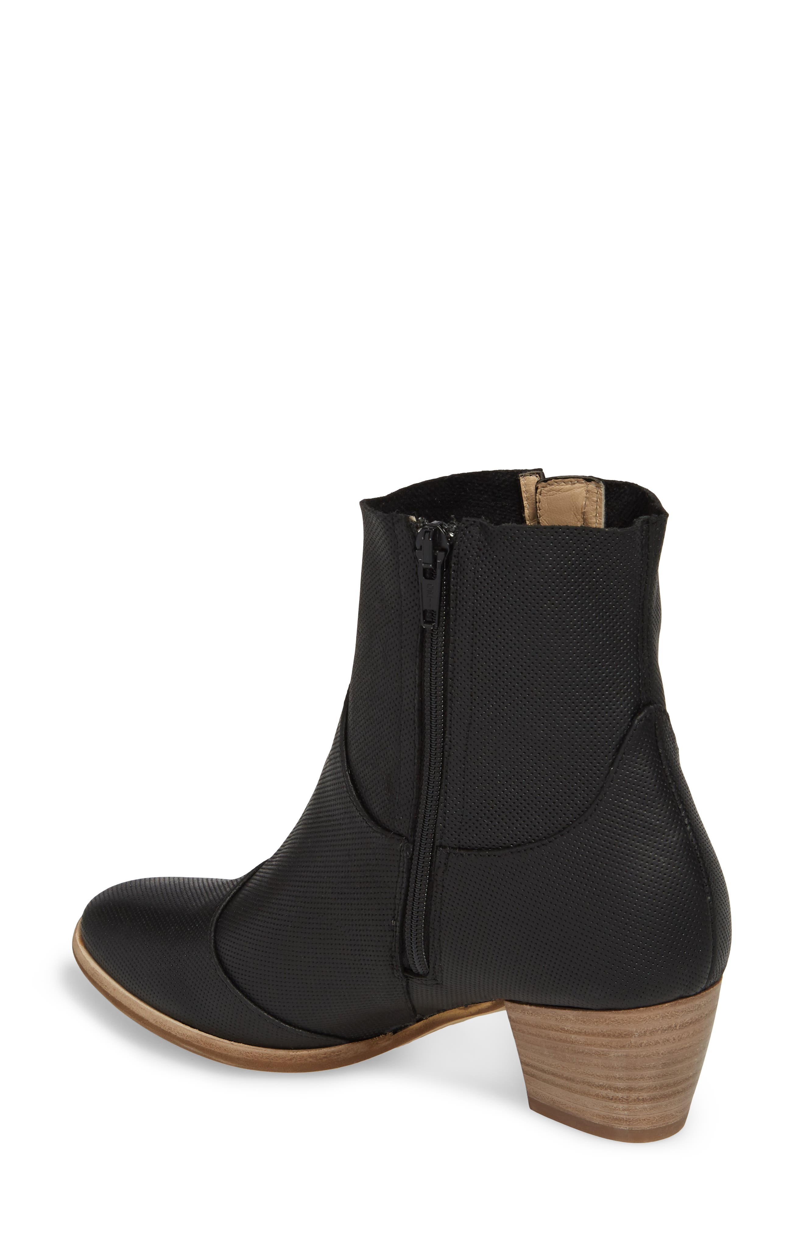 Robin Bootie,                             Alternate thumbnail 2, color,                             BLACK LEATHER