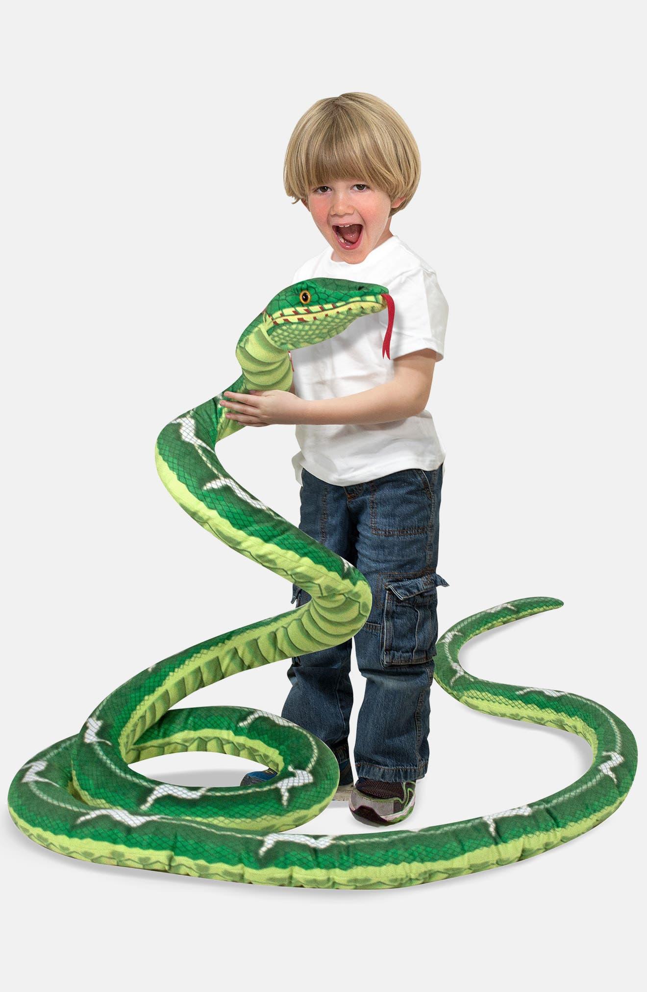Plush Snake,                             Alternate thumbnail 4, color,                             GREEN