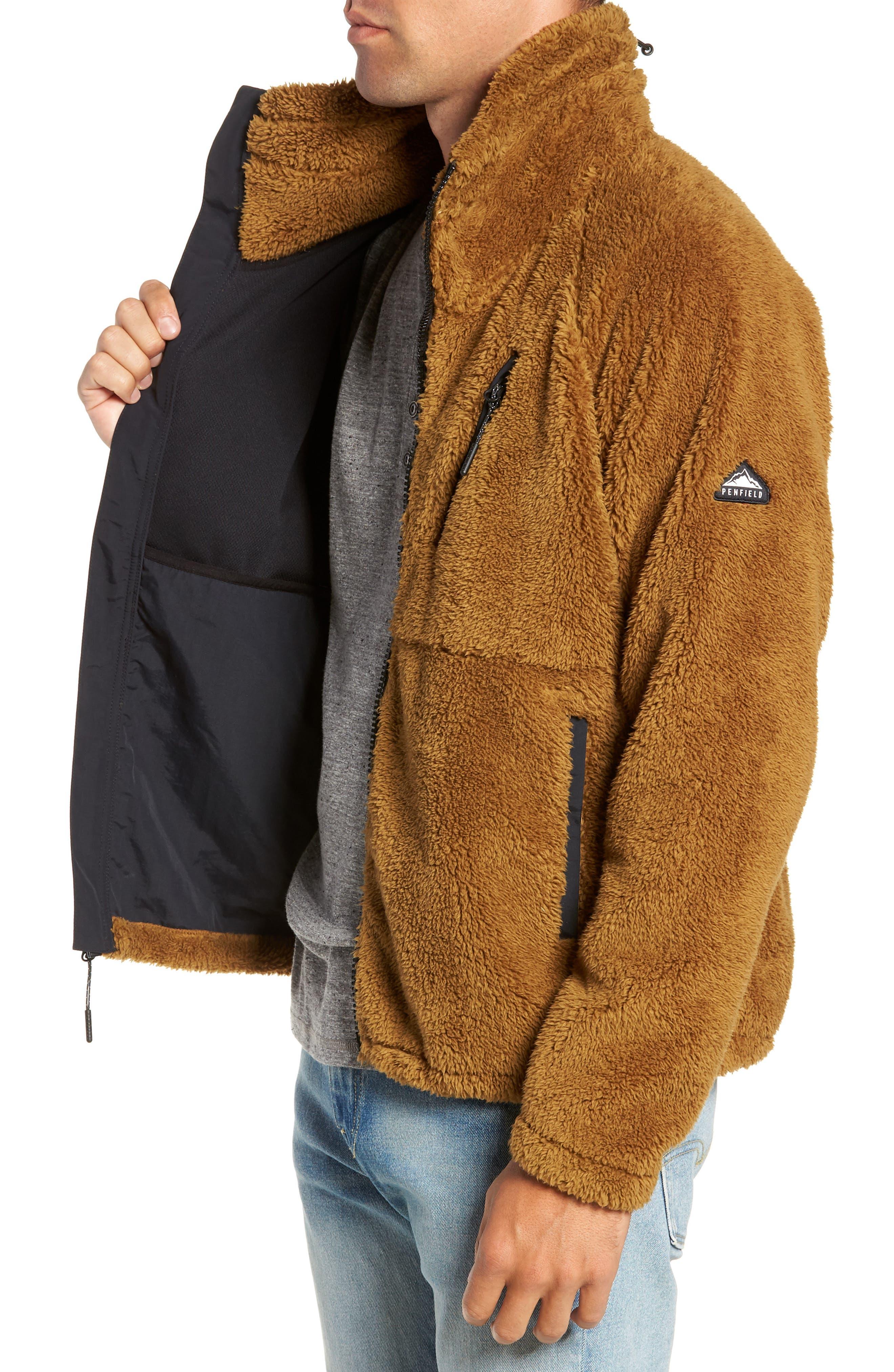Breakheart Zip Fleece Jacket,                             Alternate thumbnail 3, color,                             BREEN