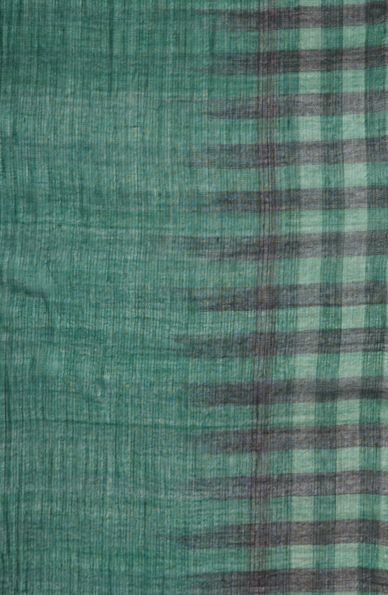 EILEEN FISHER,                             Plaid Wool Scarf,                             Alternate thumbnail 4, color,                             369