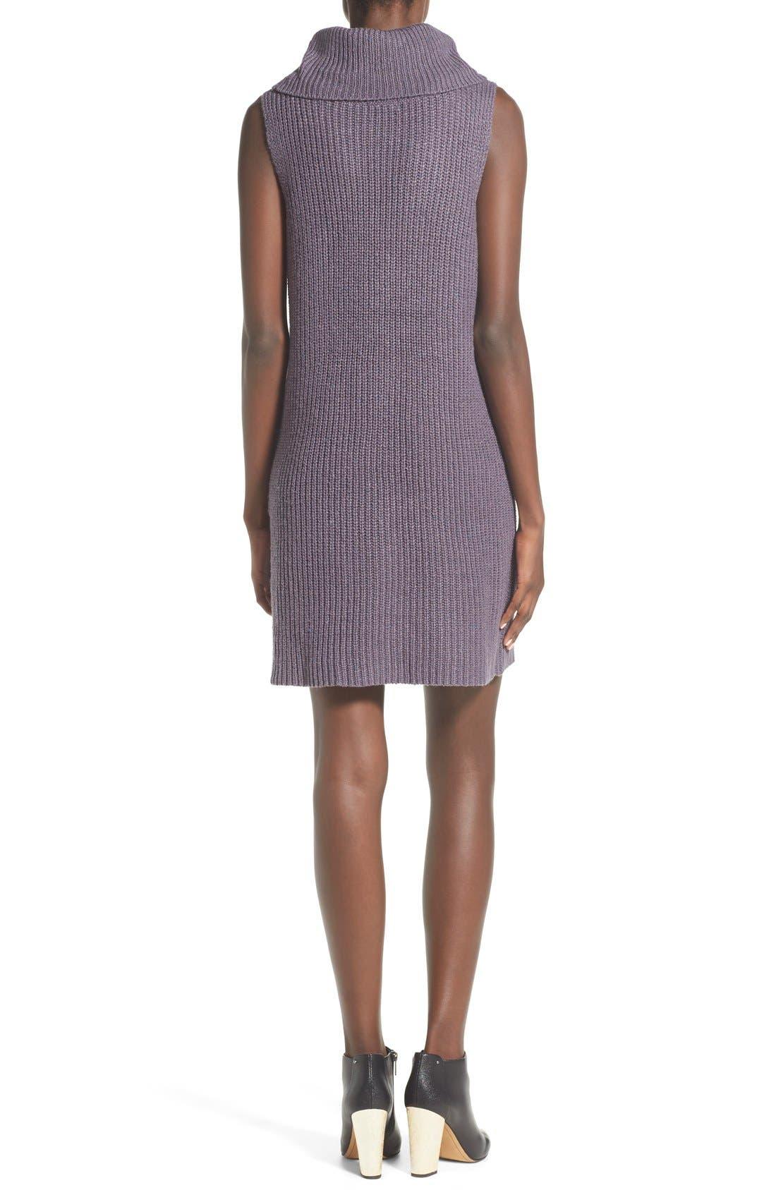 Sleeveless Turtleneck Sweater Dress,                             Alternate thumbnail 4, color,                             021