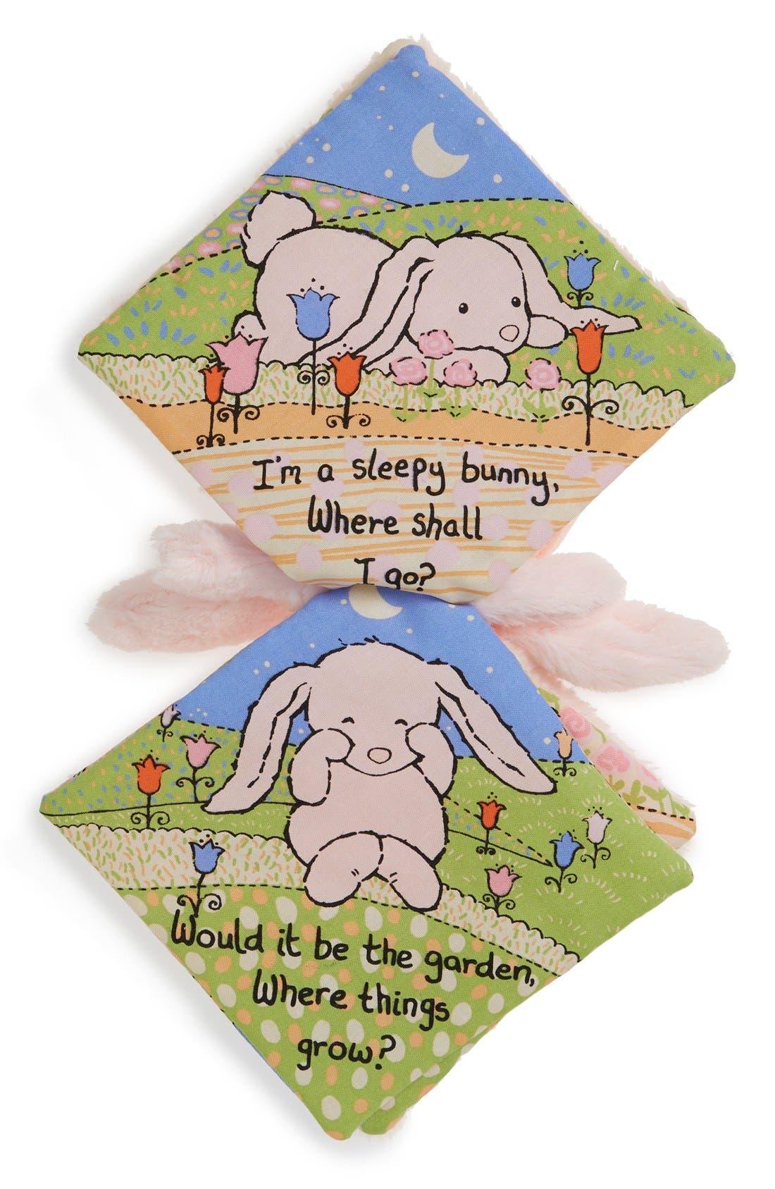 'Sleepy Bunny' Soft Fabric Book,                             Alternate thumbnail 2, color,