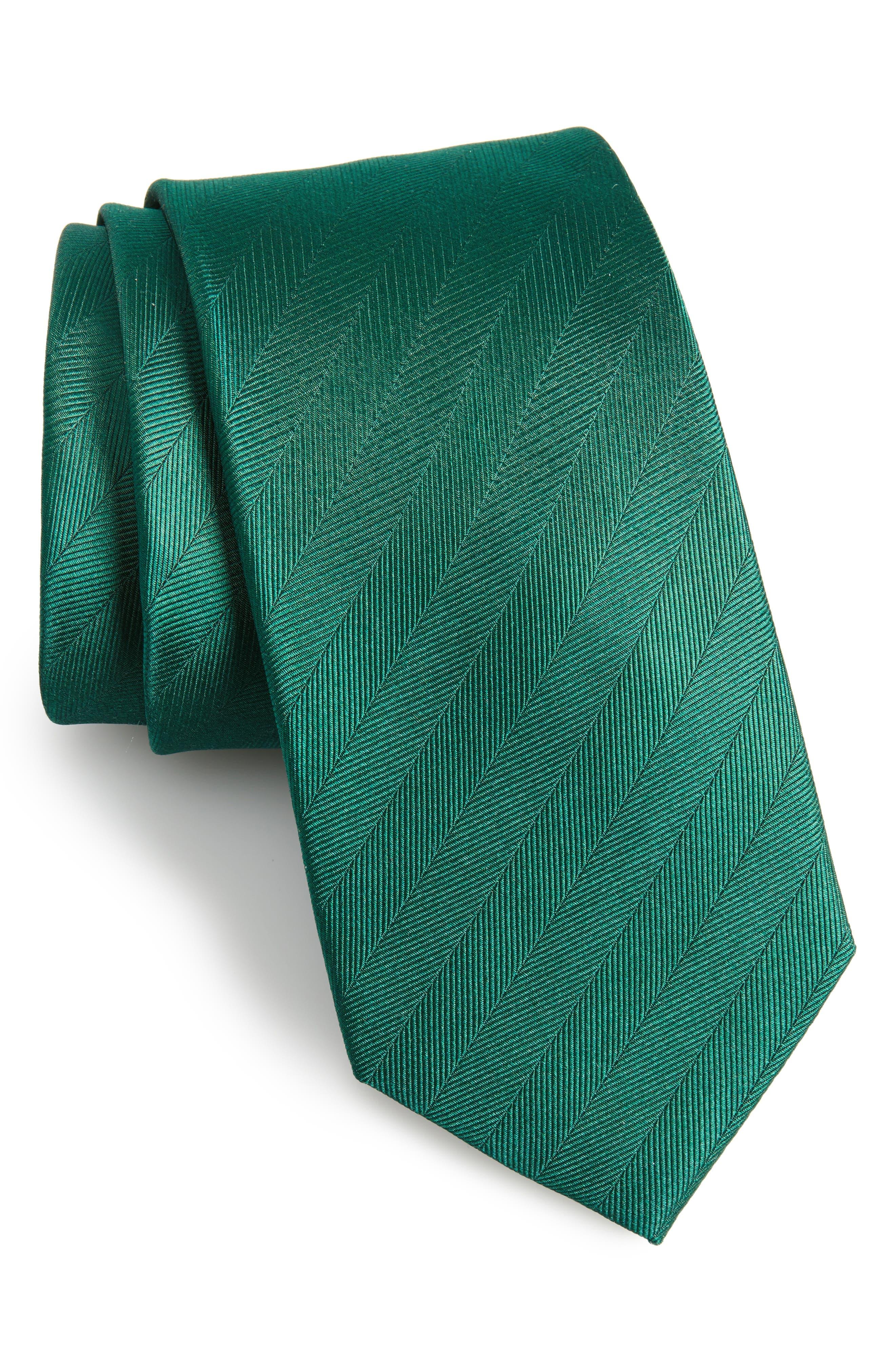 Herringbone Silk Tie,                             Main thumbnail 2, color,