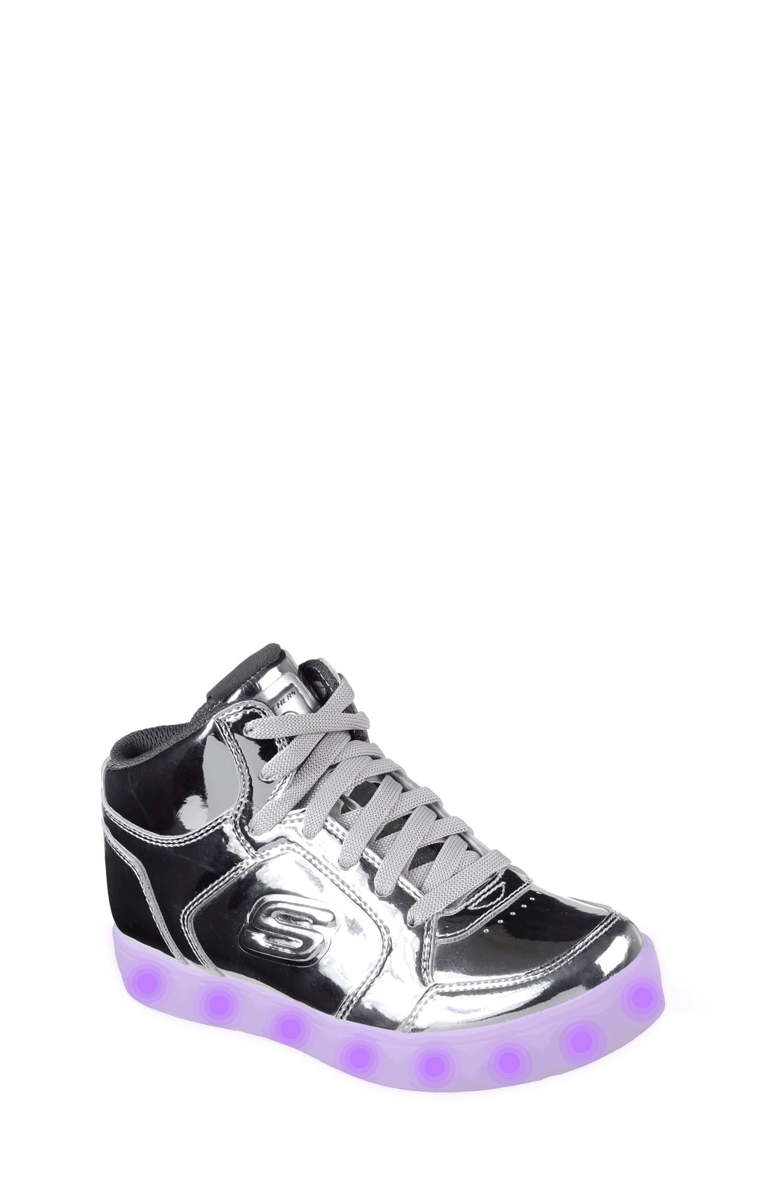 Energy Lights Metallic High Top Sneaker,                             Main thumbnail 3, color,