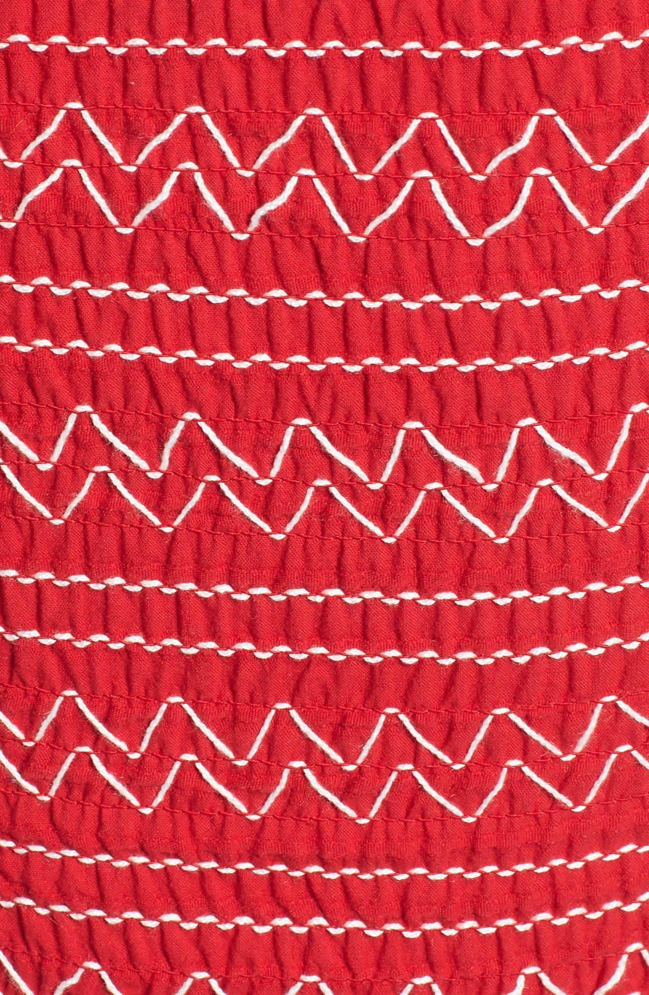 Riverine Smock Strapless Top,                             Alternate thumbnail 6, color,                             600
