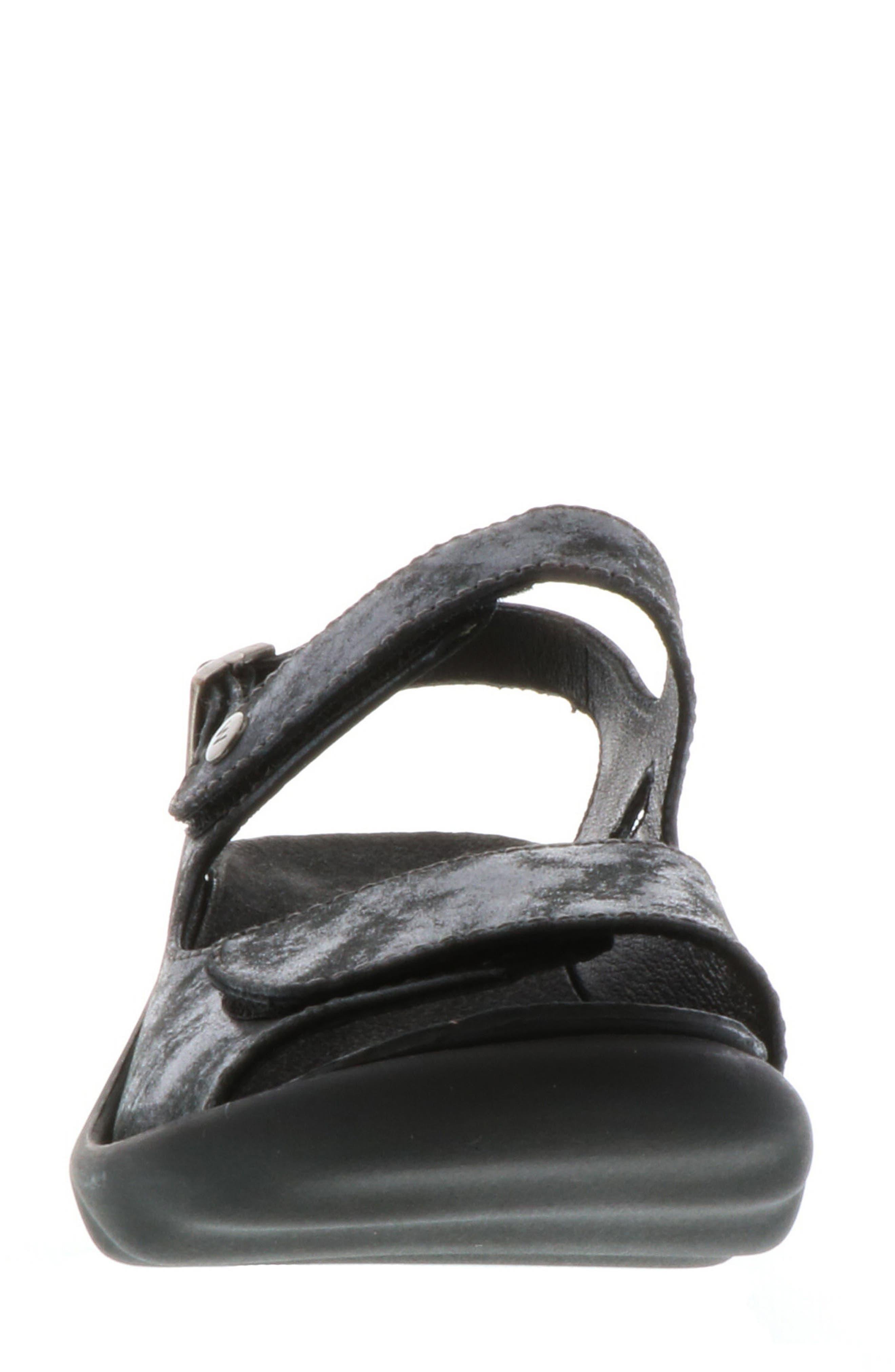 Scala Sandal,                             Alternate thumbnail 4, color,                             BLACK NUBUCK