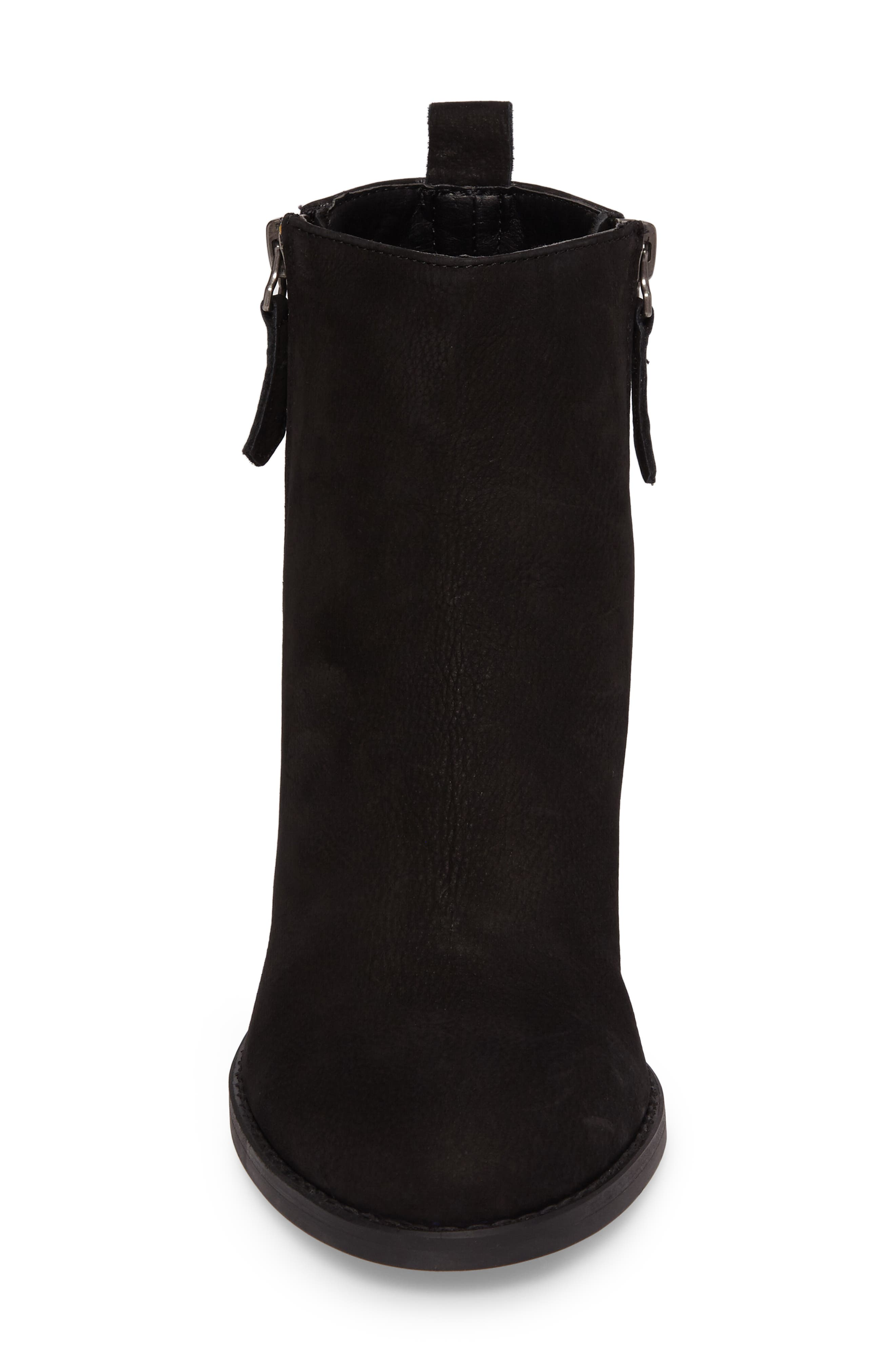 Lance Stacked Heel Bootie,                             Alternate thumbnail 4, color,                             001