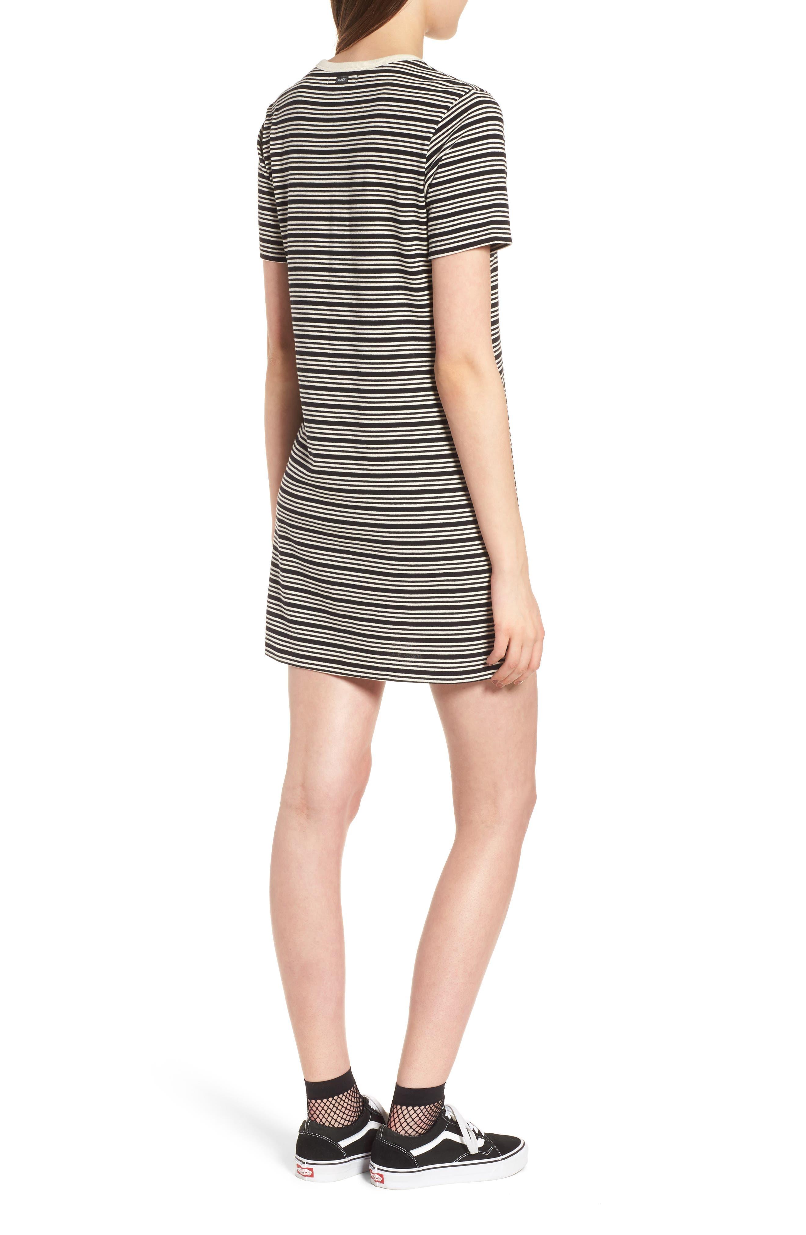 Freya Stripe T-Shirt Dress,                             Alternate thumbnail 2, color,