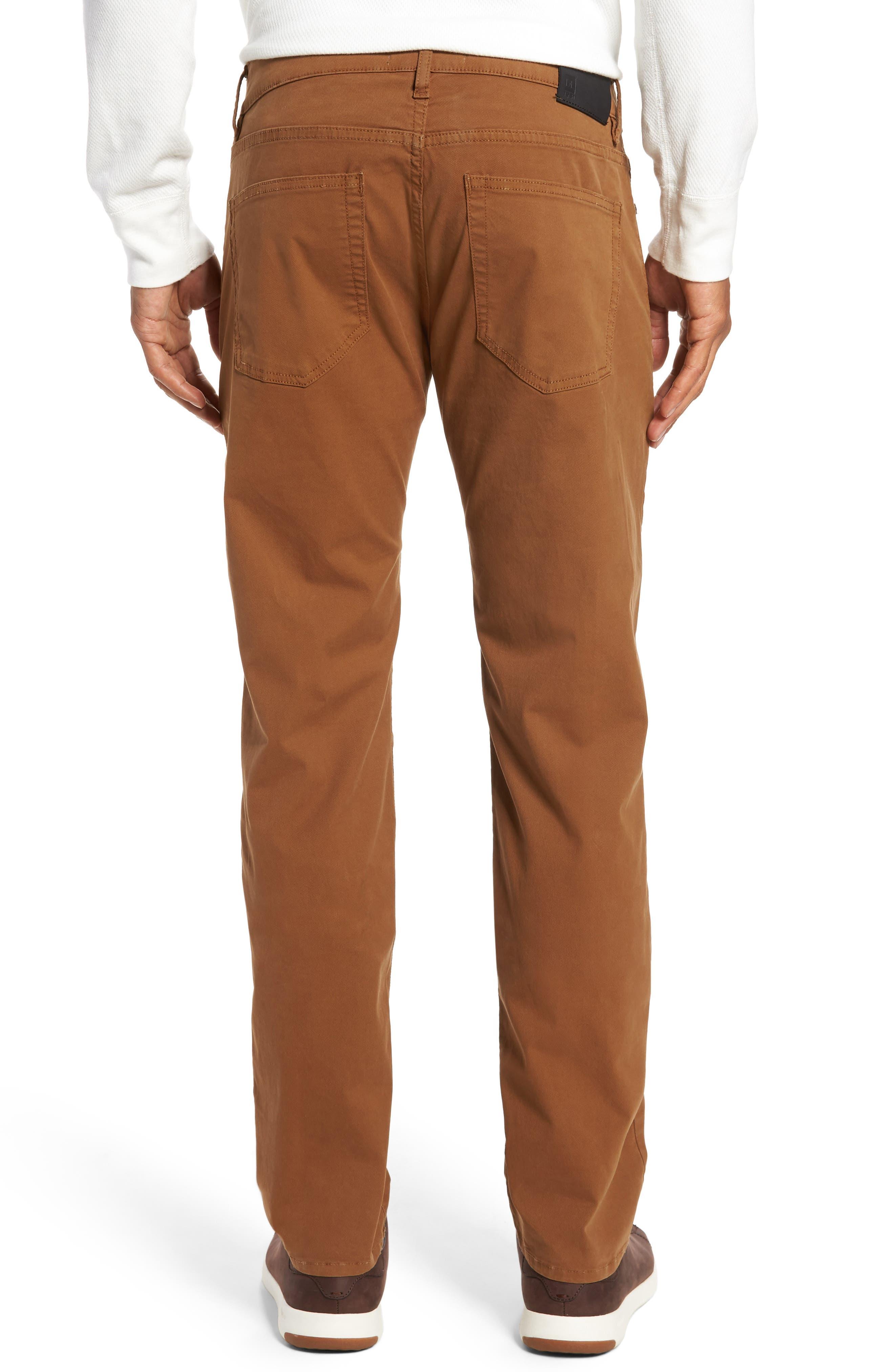 Nick Slim Fit Flat Front Pants,                             Alternate thumbnail 2, color,                             SIENNA