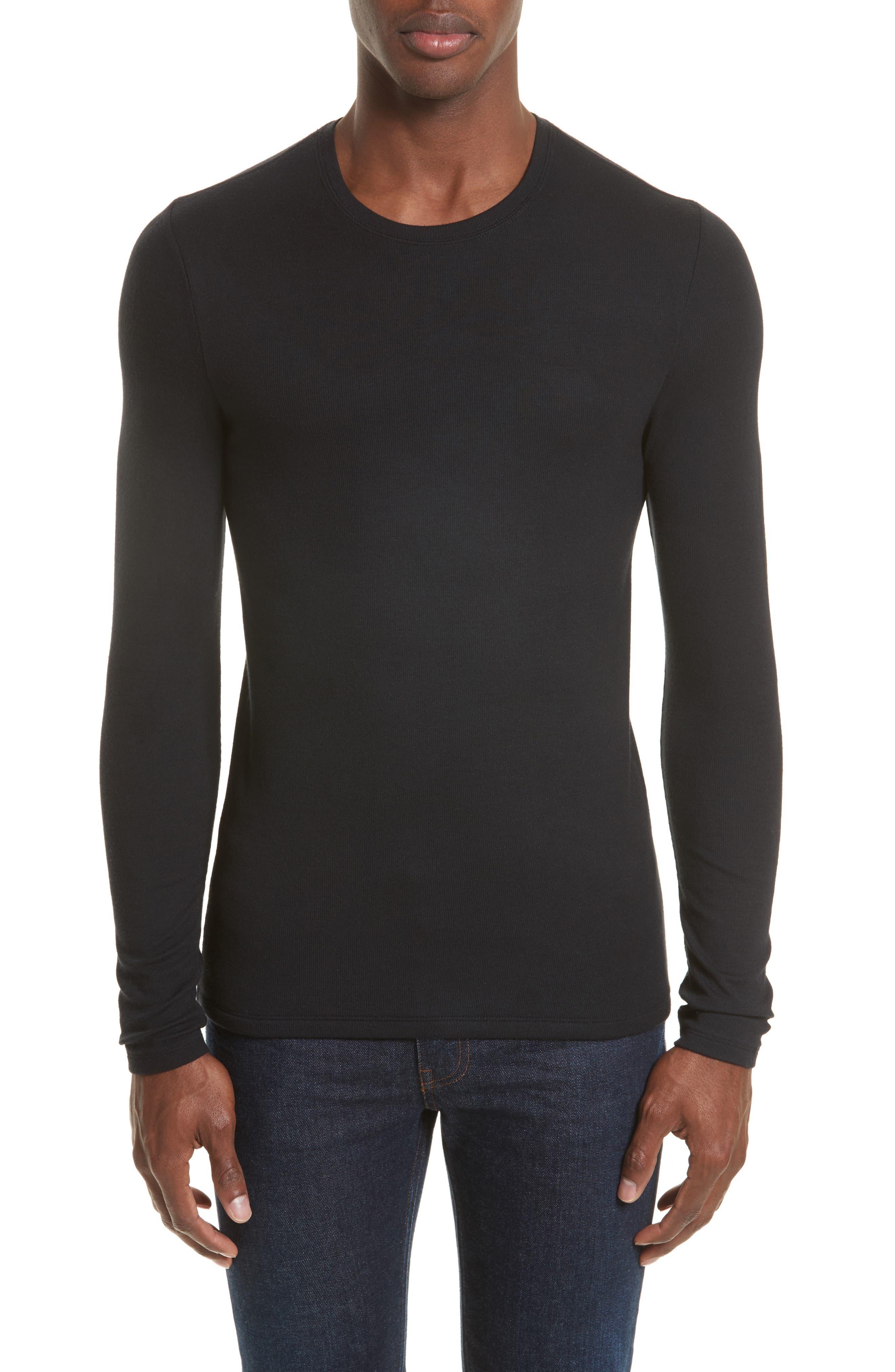 Ribbed T-Shirt,                         Main,                         color, 001