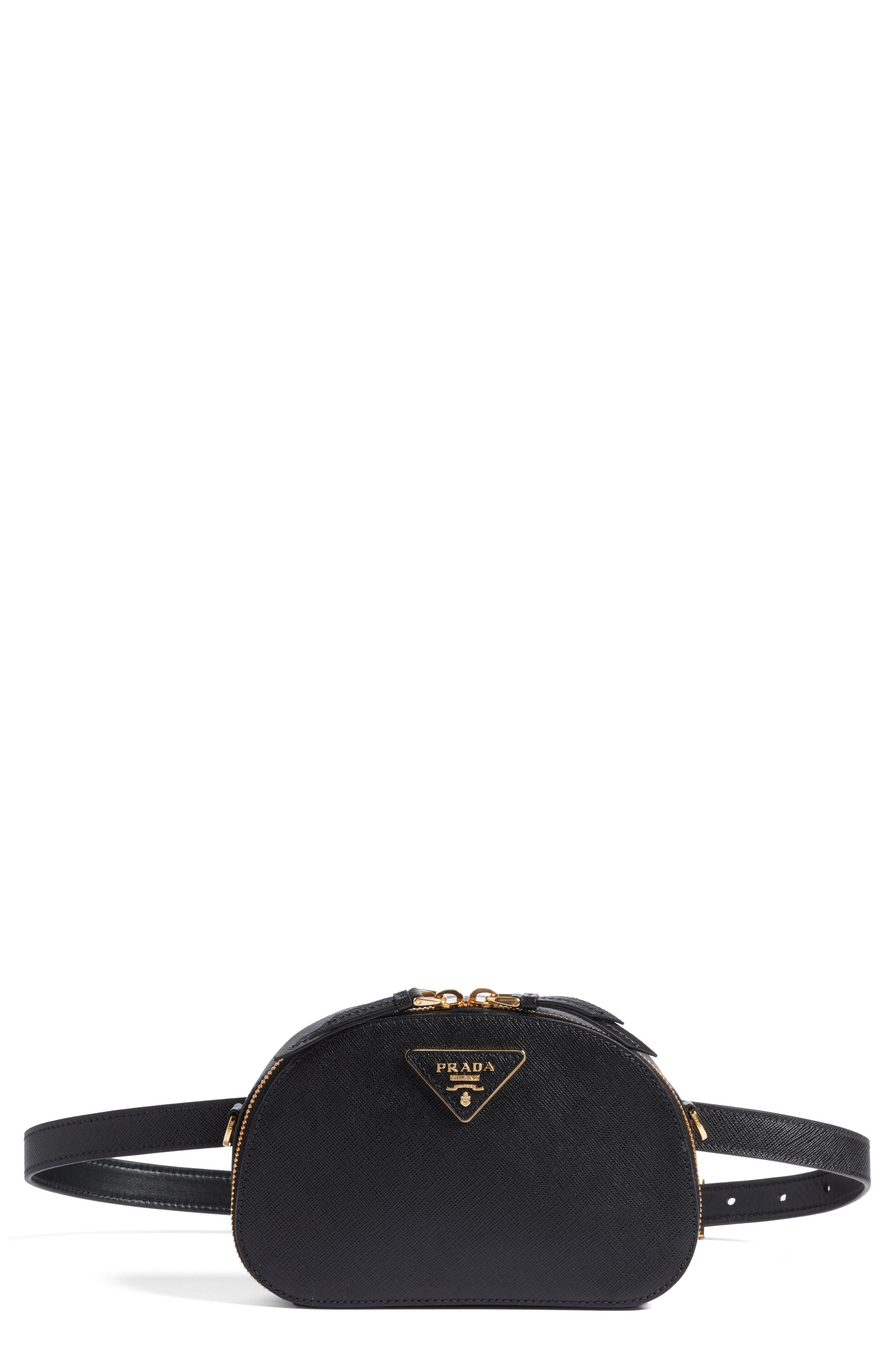Saffiano Leather Belt Bag,                         Main,                         color, 001