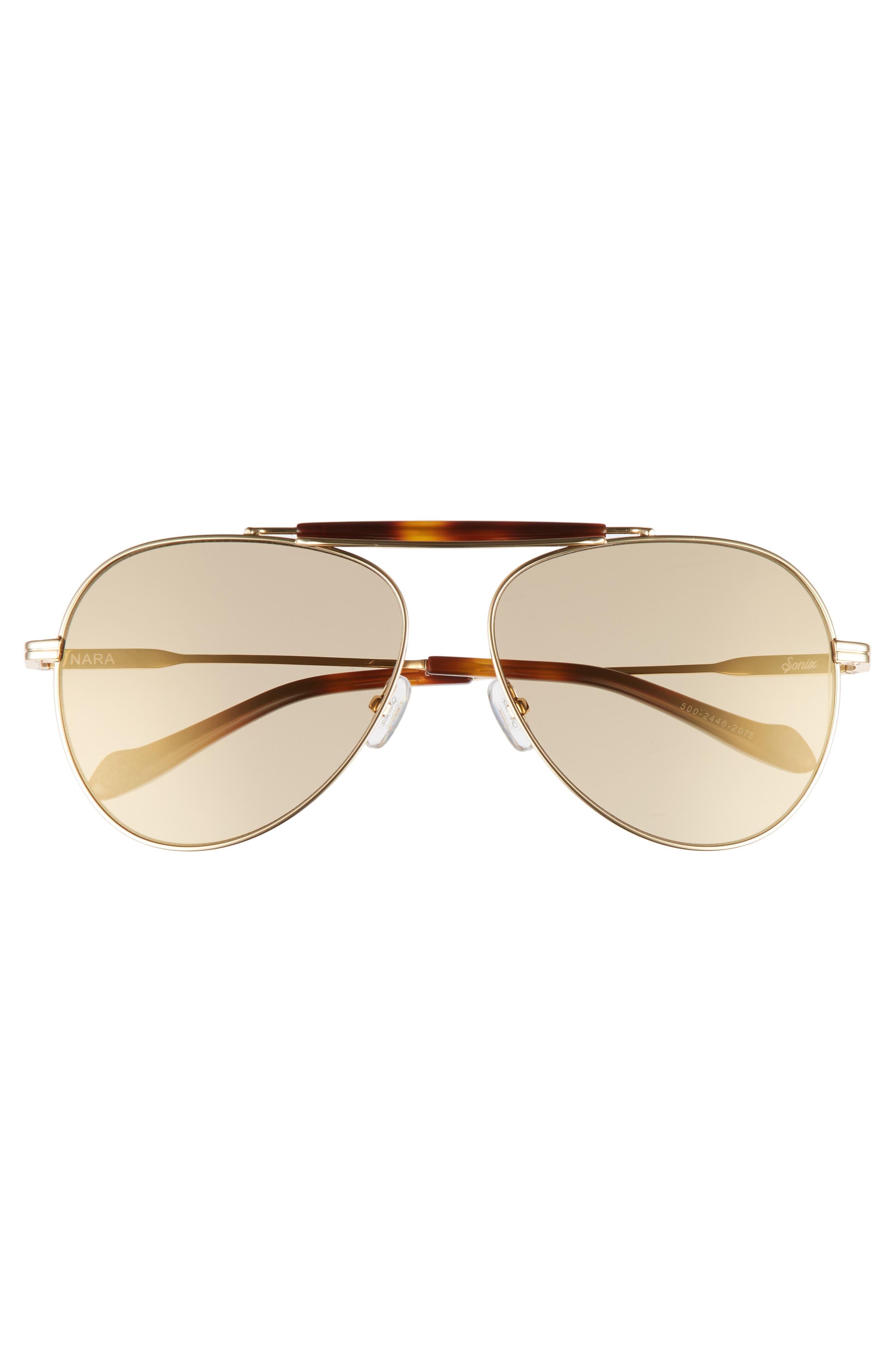 Nara 60mm Aviator Sunglasses,                             Alternate thumbnail 6, color,