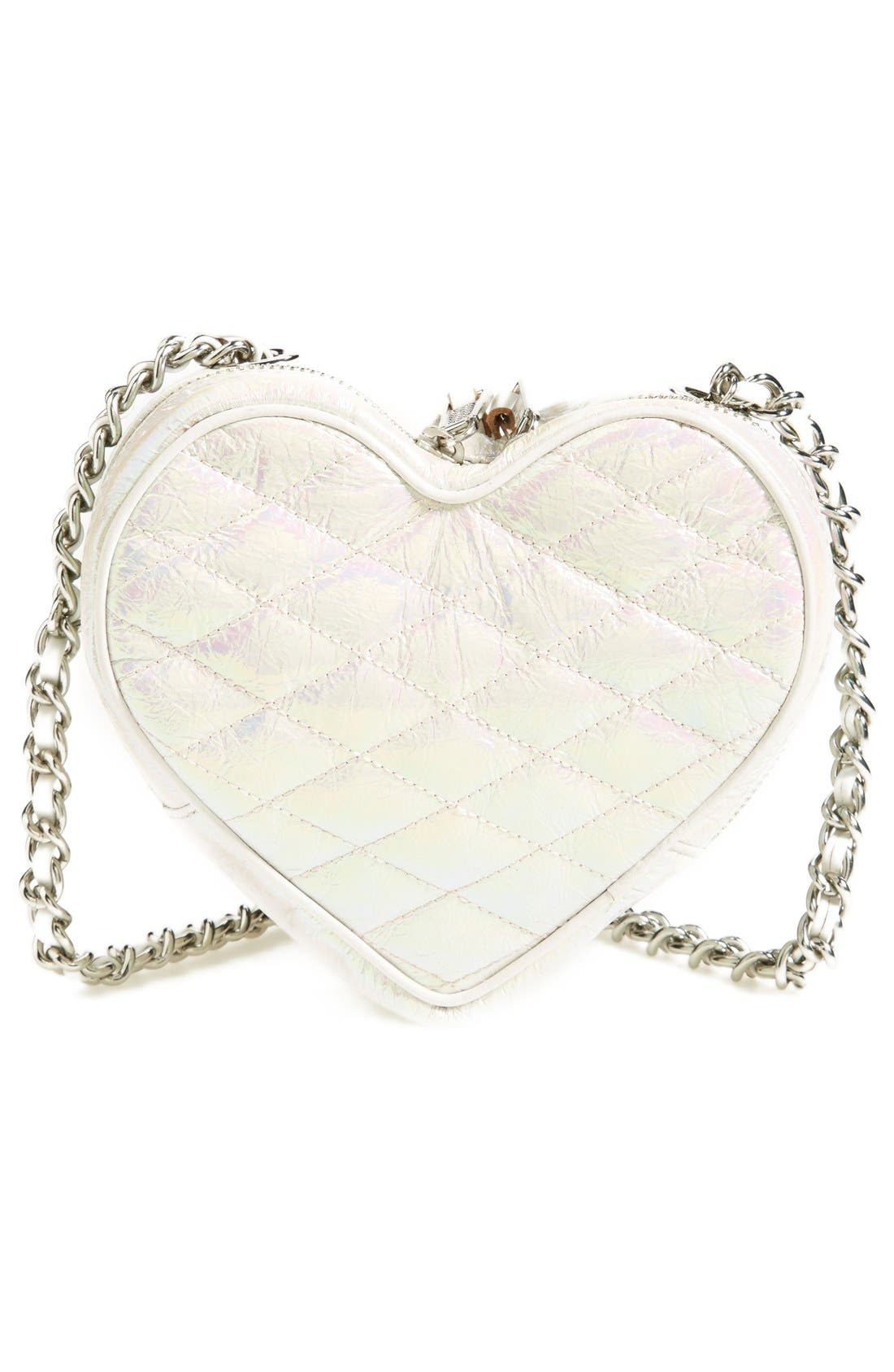 Heart Crossbody Bag,                             Alternate thumbnail 5, color,                             100