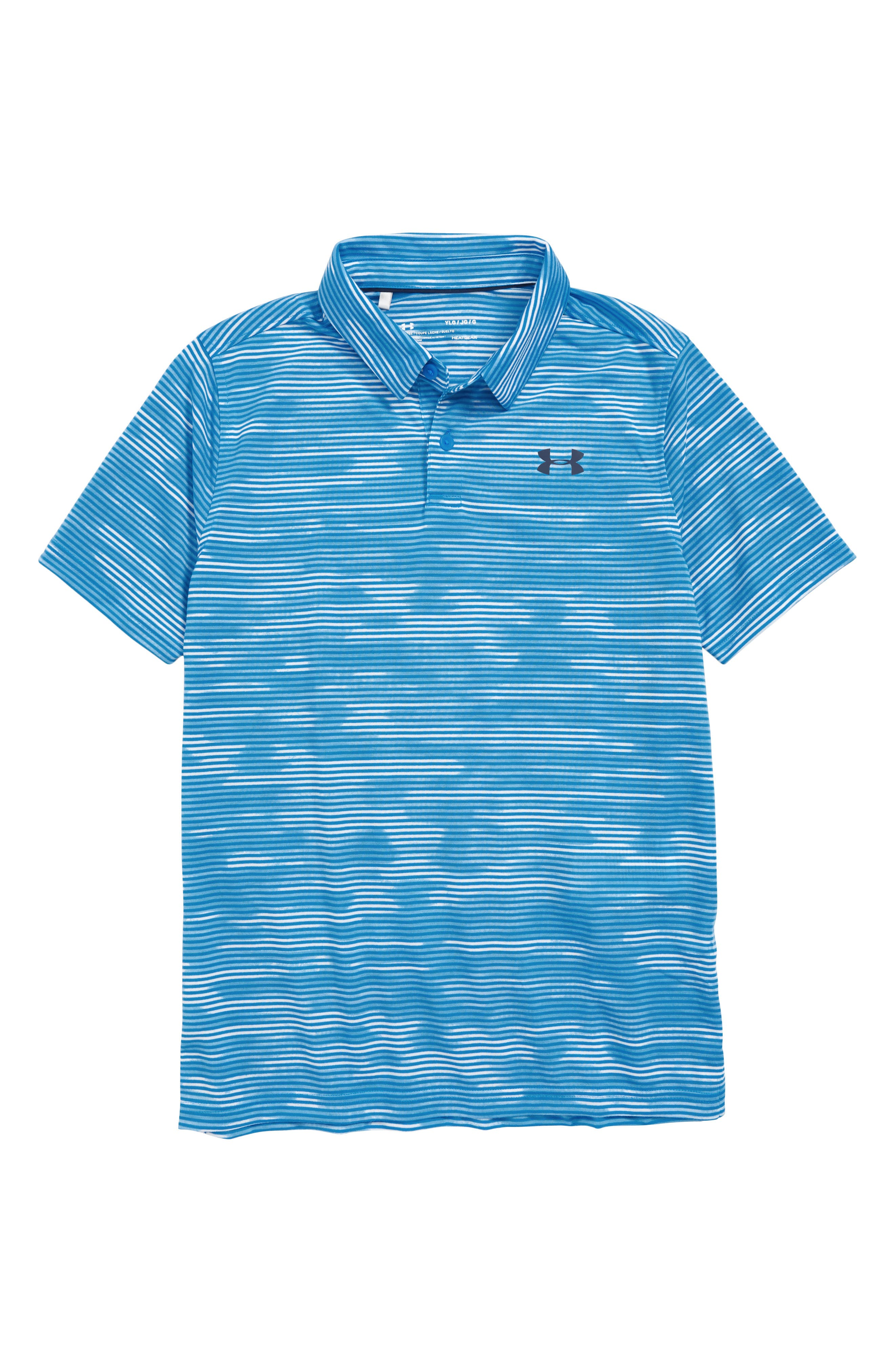 Boys Under Armour Threadborne Polo Size M (1012)  Blue