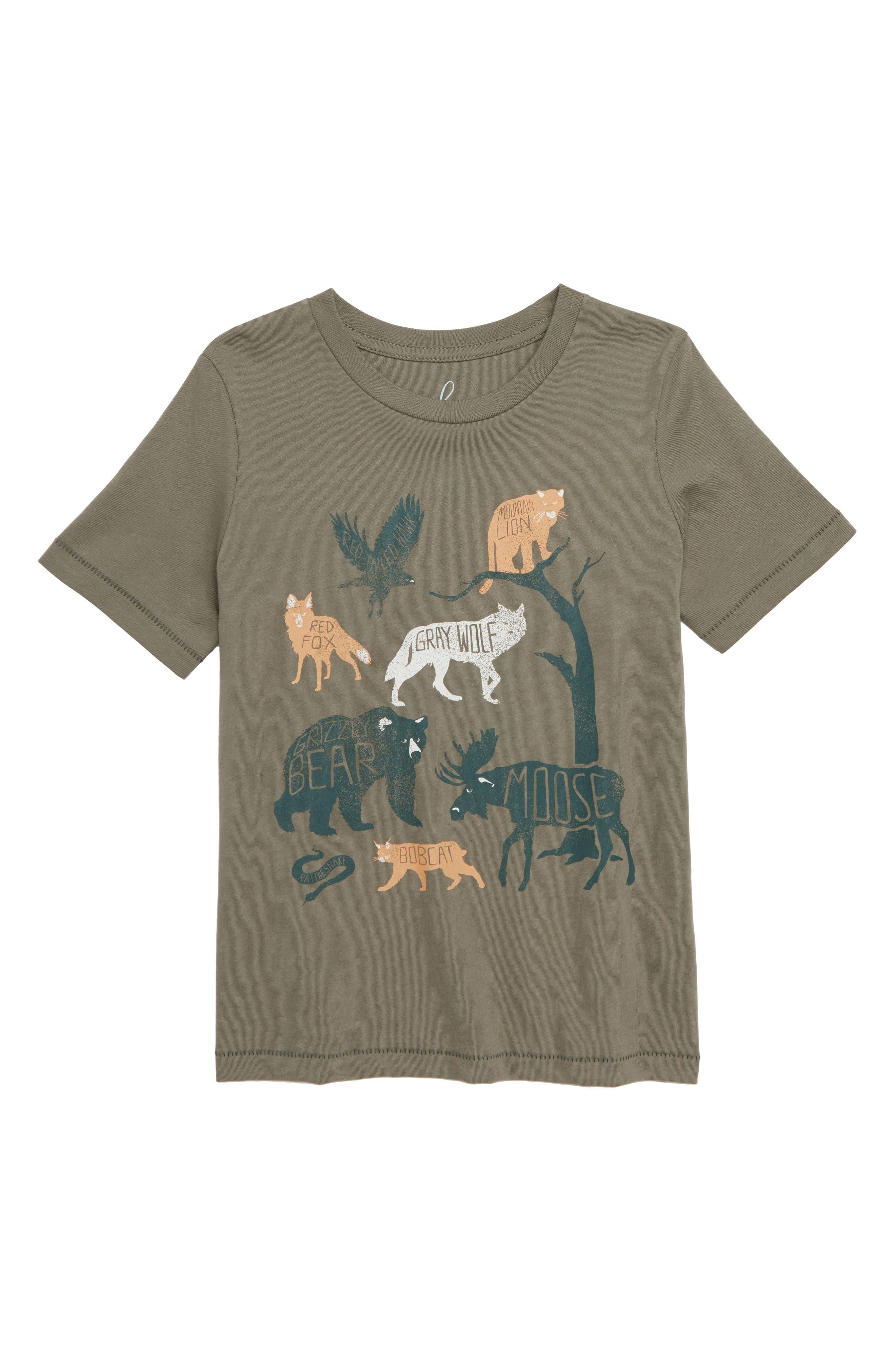 Glacier National Park T-Shirt,                         Main,                         color, OLIVE
