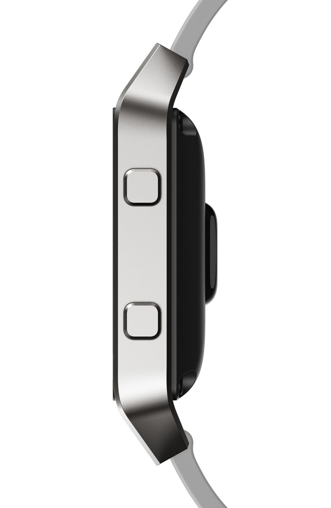 Blaze Leather Smart Watch Band,                             Alternate thumbnail 3, color,                             MIST GREY