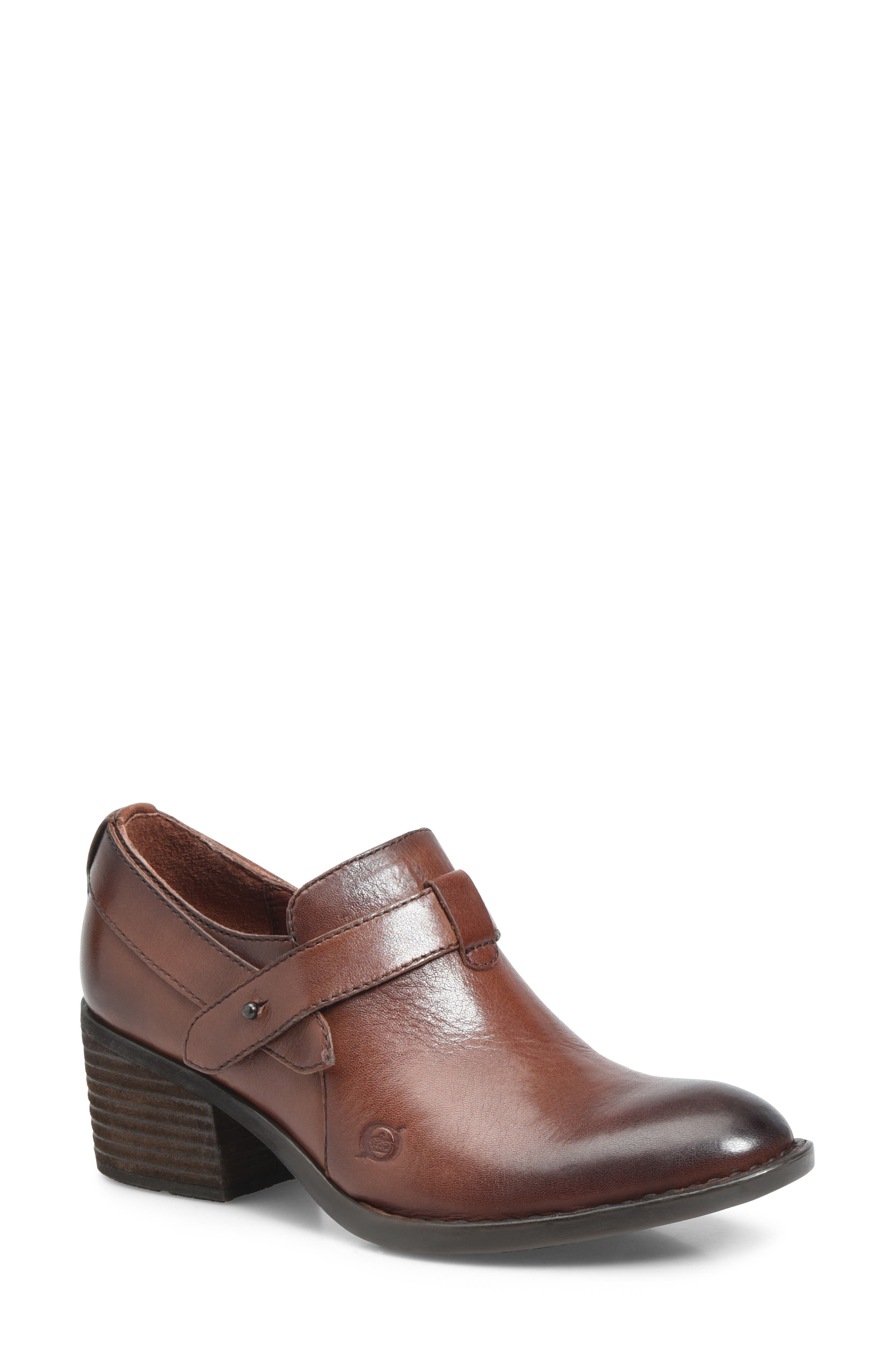 Timmons Bootie,                             Main thumbnail 1, color,                             BROWN LEATHER