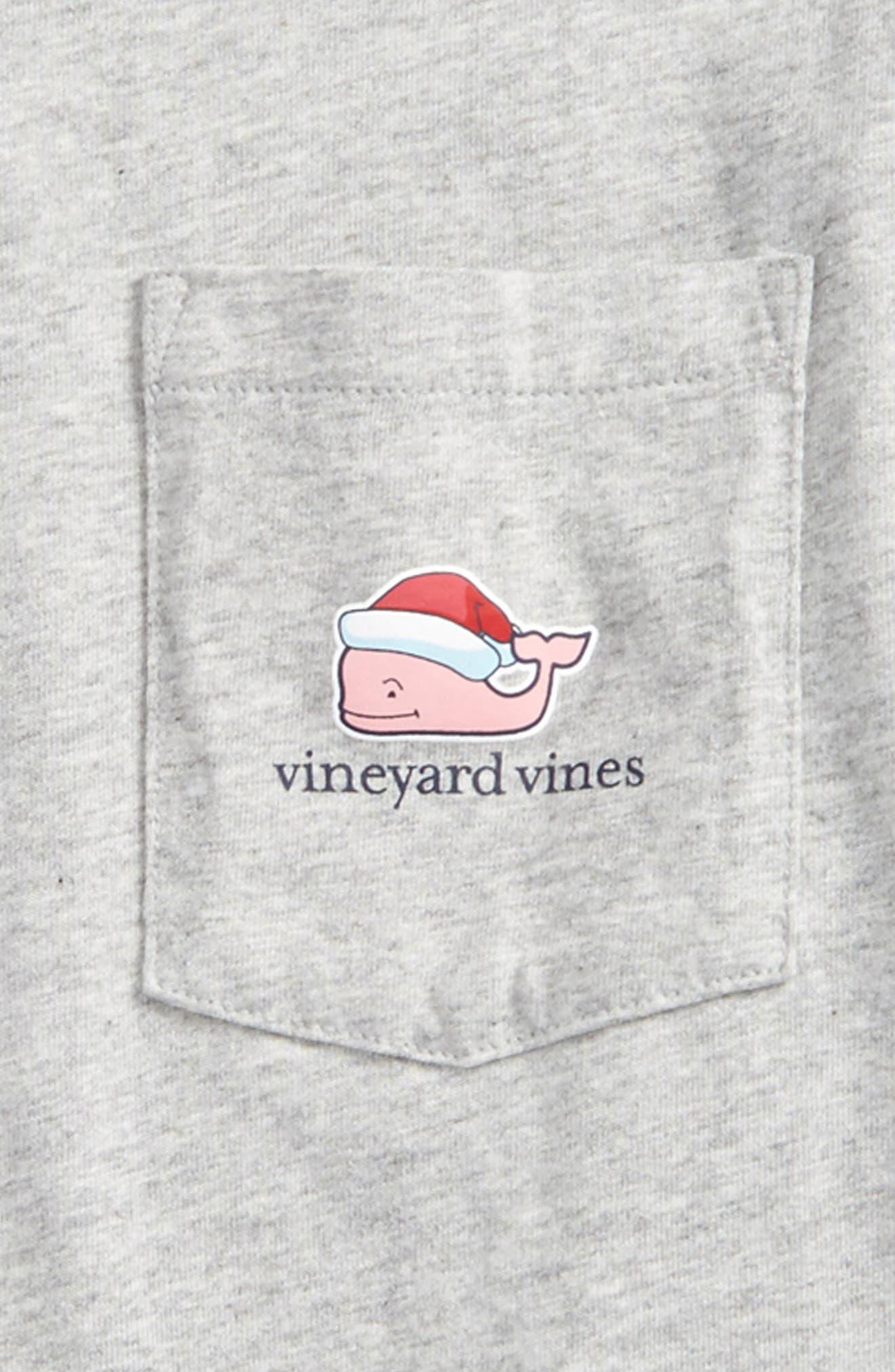 Santa Whale Happy Holidays 2017 T-Shirt,                             Alternate thumbnail 3, color,                             039