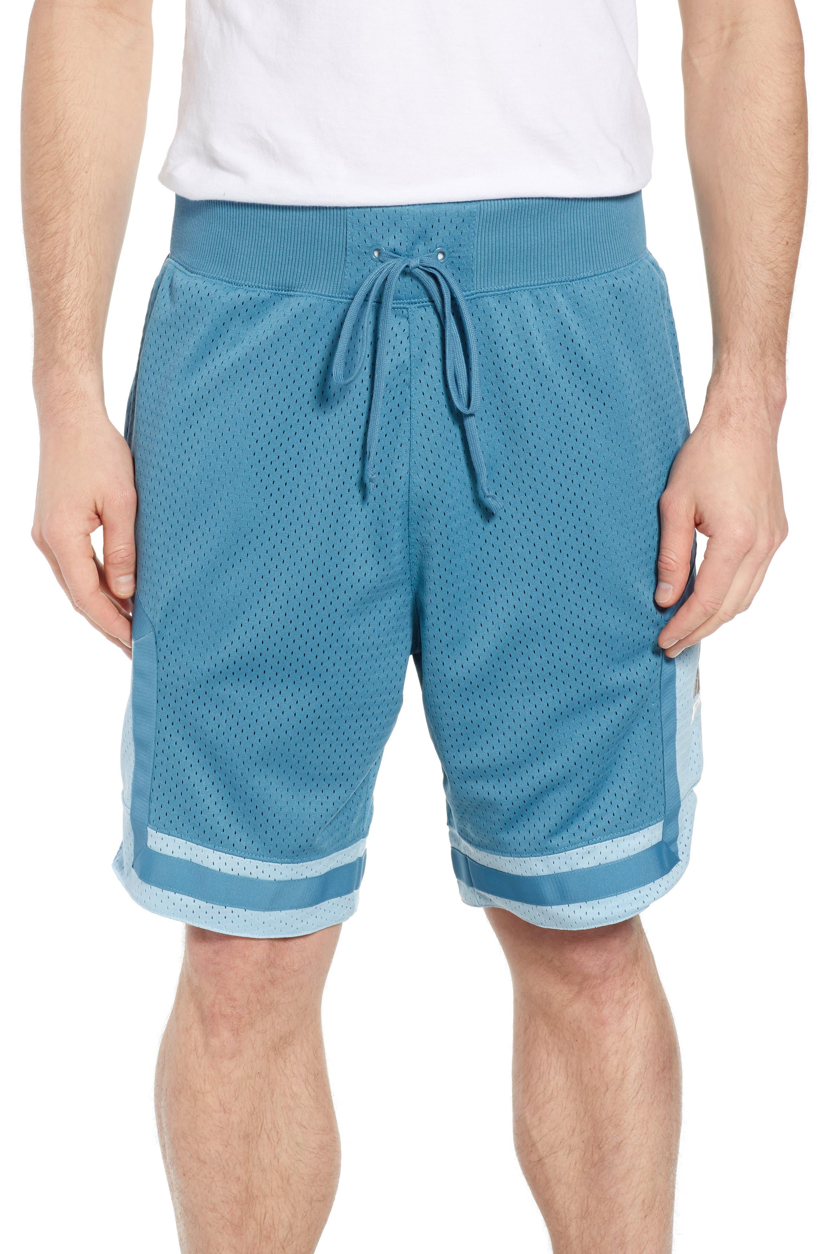 NSW AF1 Shorts,                             Main thumbnail 1, color,                             AQUA/ OCEAN BLISS/ OREWOOD