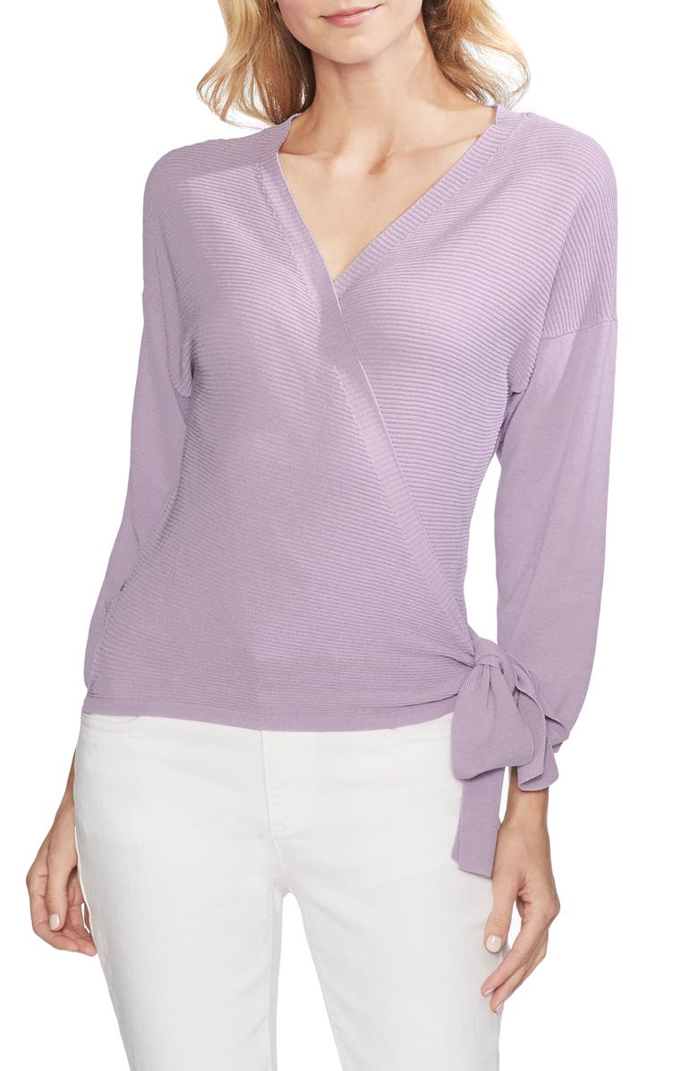 72a02182b Vince Camuto Ribbed Side Tie Sweater