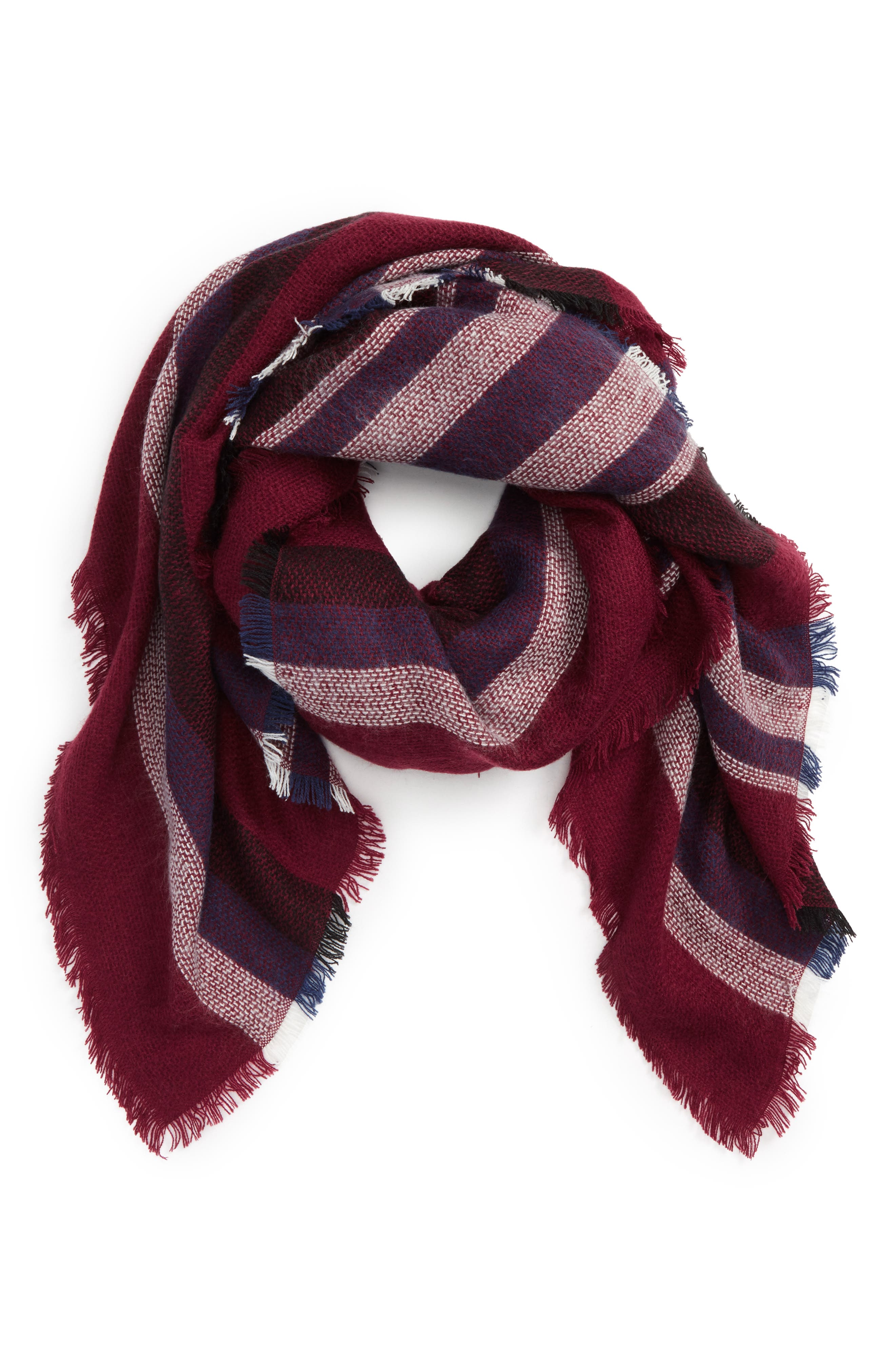 Accessory Collective Stripe Scarf,                             Main thumbnail 1, color,                             600