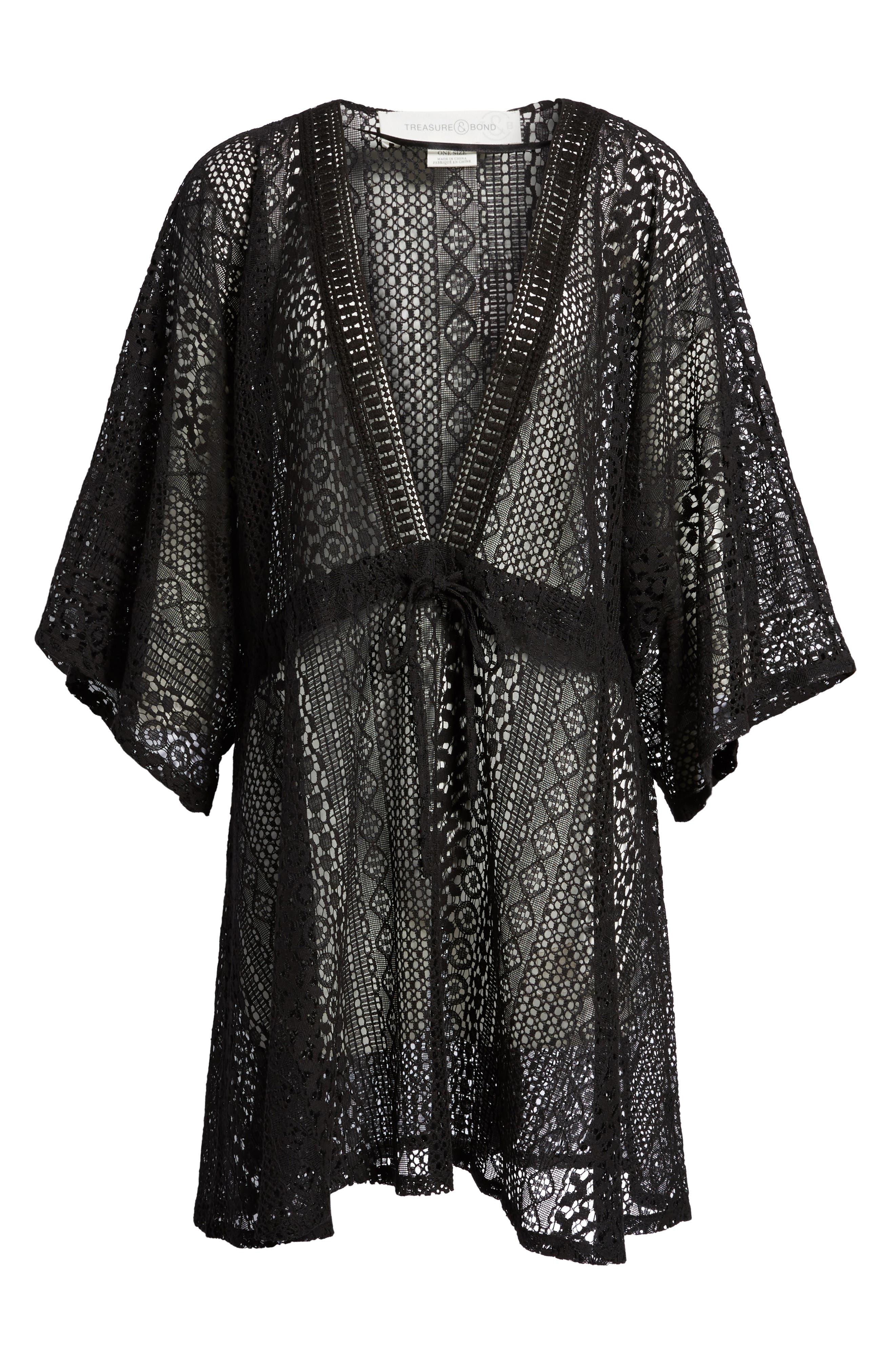 Lace Kimono Pullover,                             Alternate thumbnail 11, color,