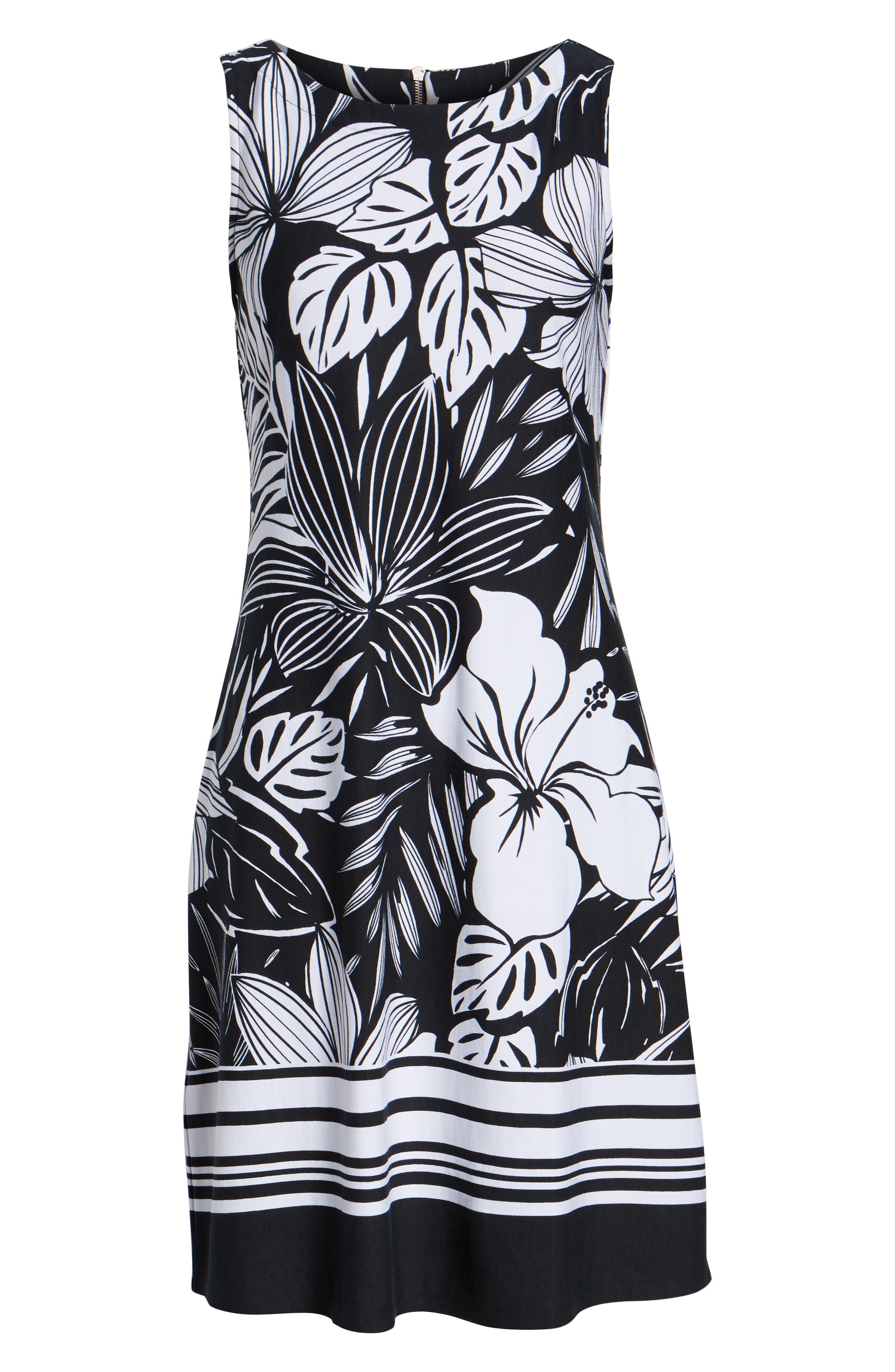 TOMMY BAHAMA,                             Mahana Beach Sheath Dress,                             Alternate thumbnail 7, color,                             BLACK