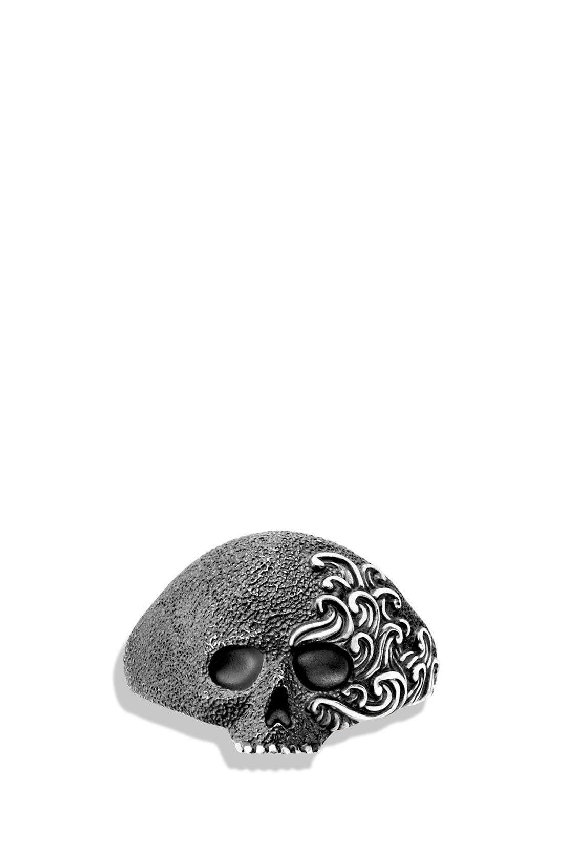 'Waves' Small Skull Ring,                             Alternate thumbnail 4, color,                             040
