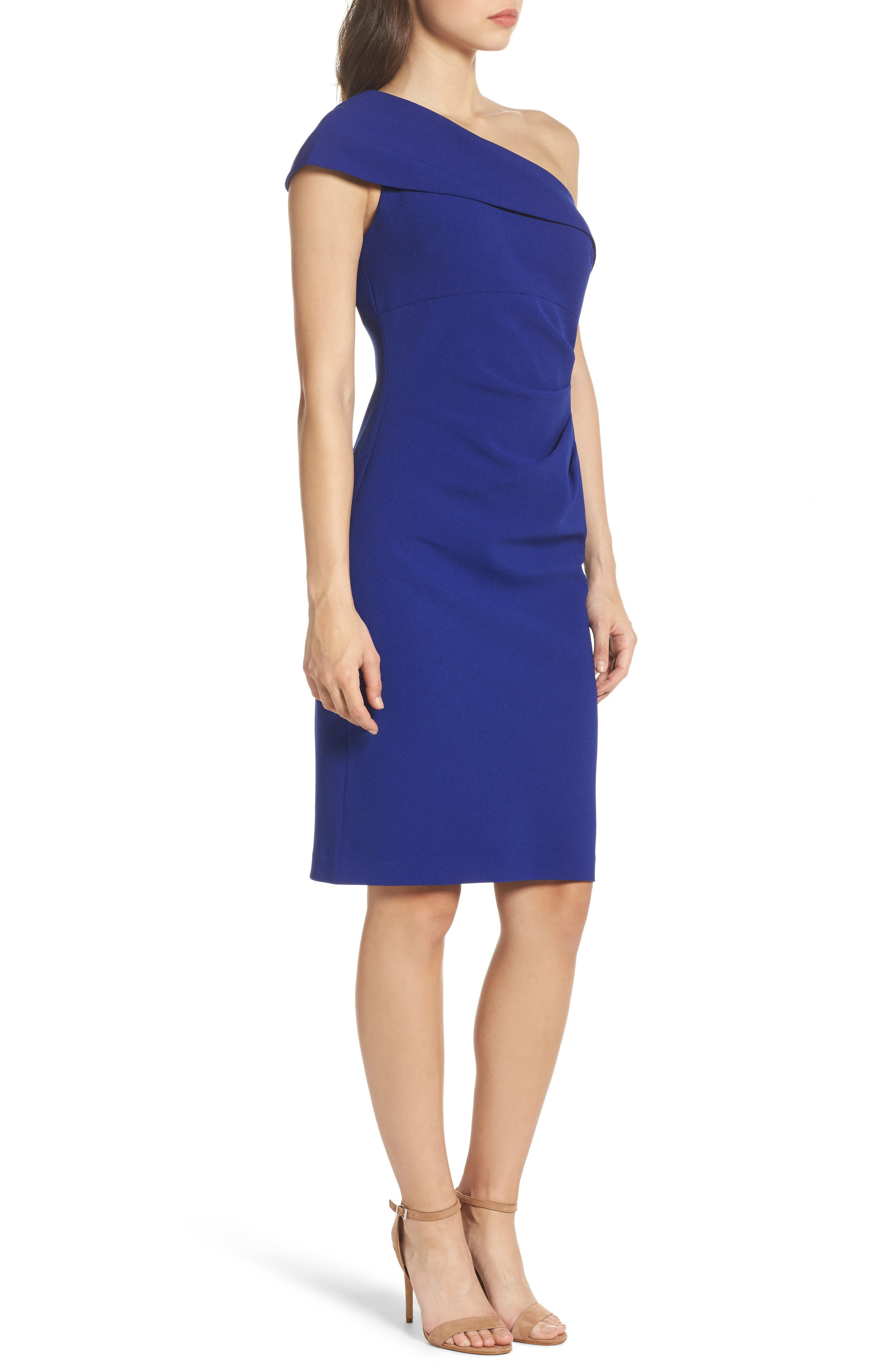 One-Shoulder Sheath Dress,                             Alternate thumbnail 3, color,