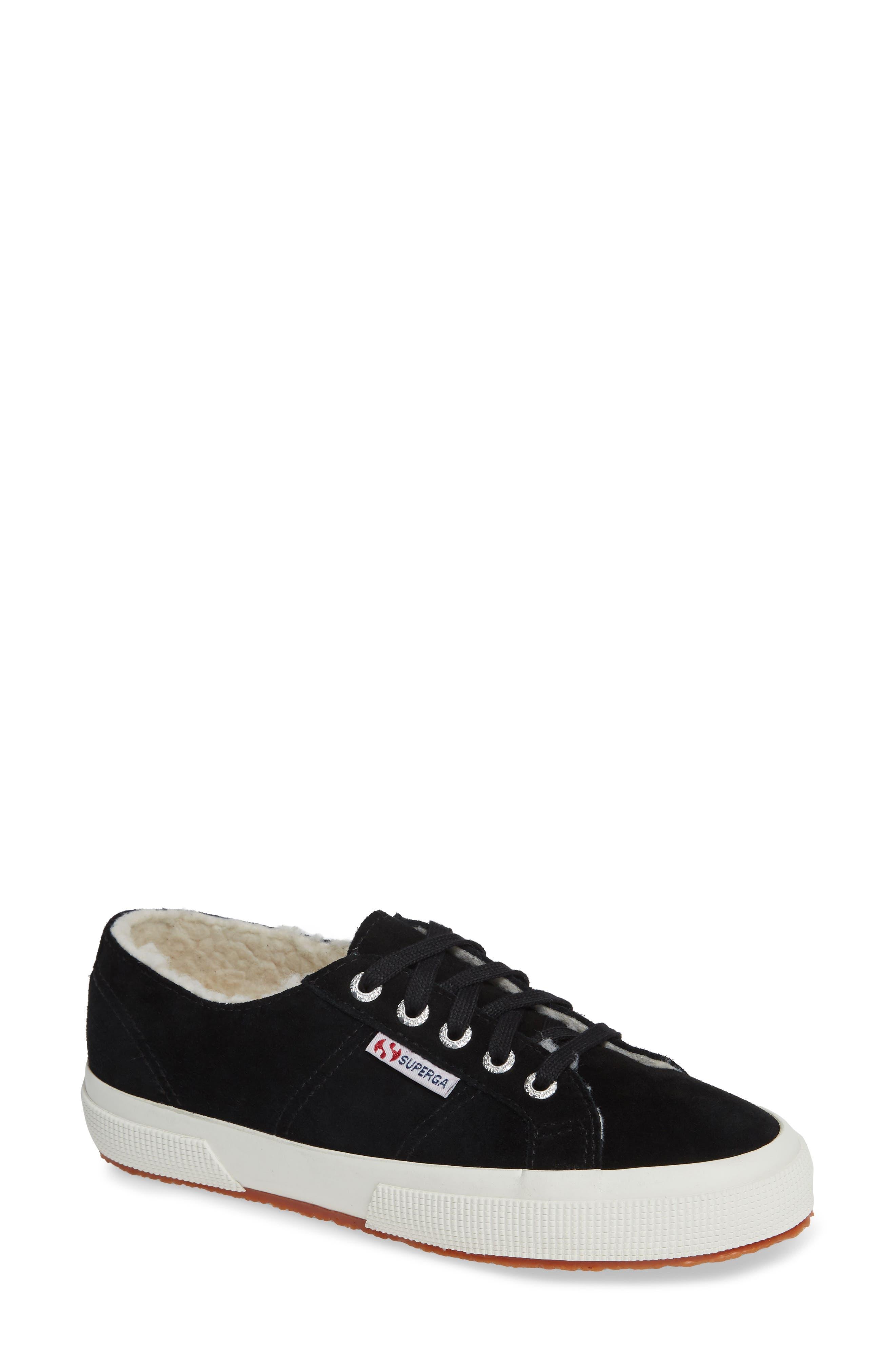 2750 Suefurw Sneaker,                             Main thumbnail 1, color,                             BLACK SUEDE