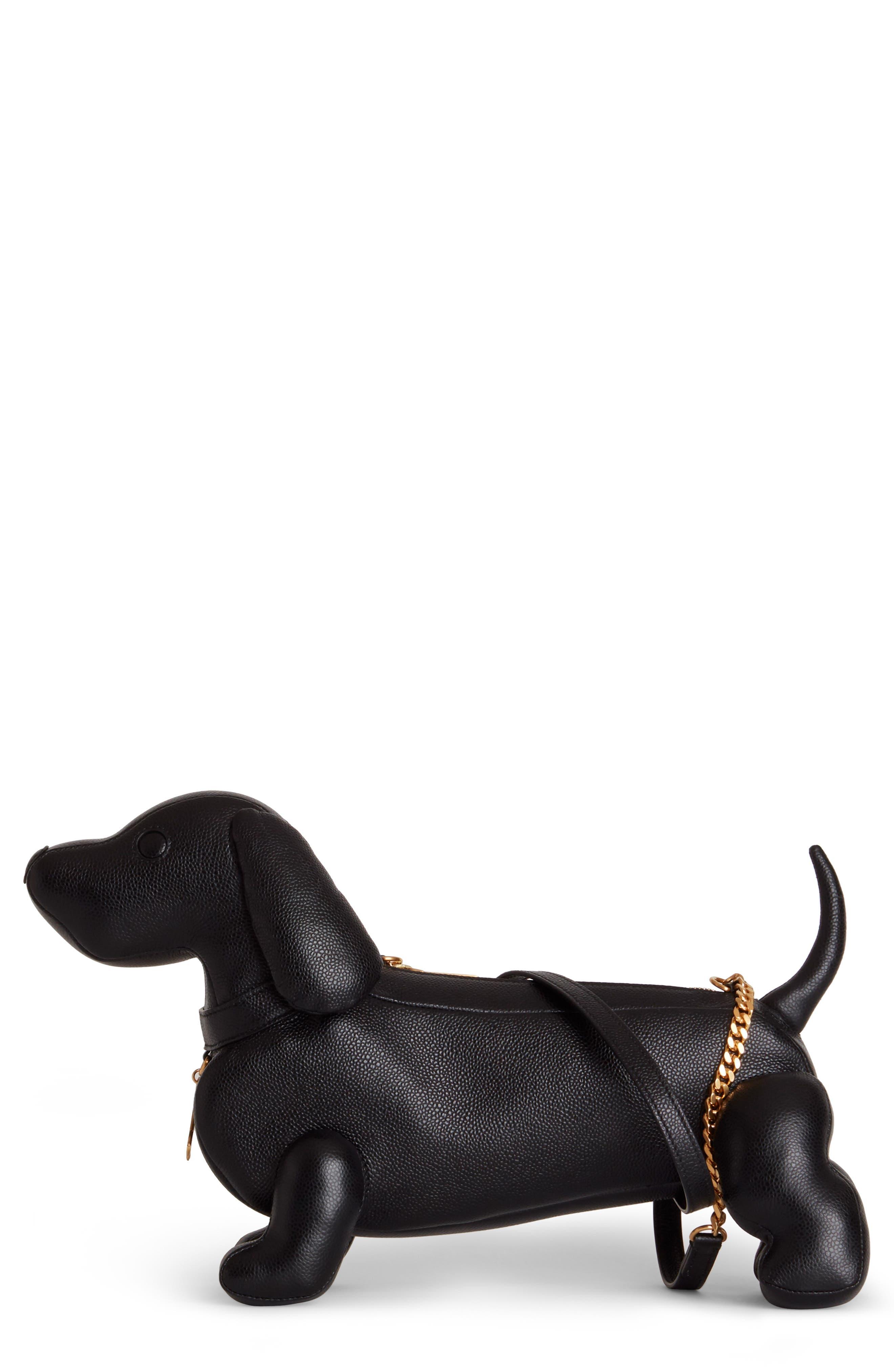 Mini Hector Leather Shoulder Bag, Main, color, BLACK