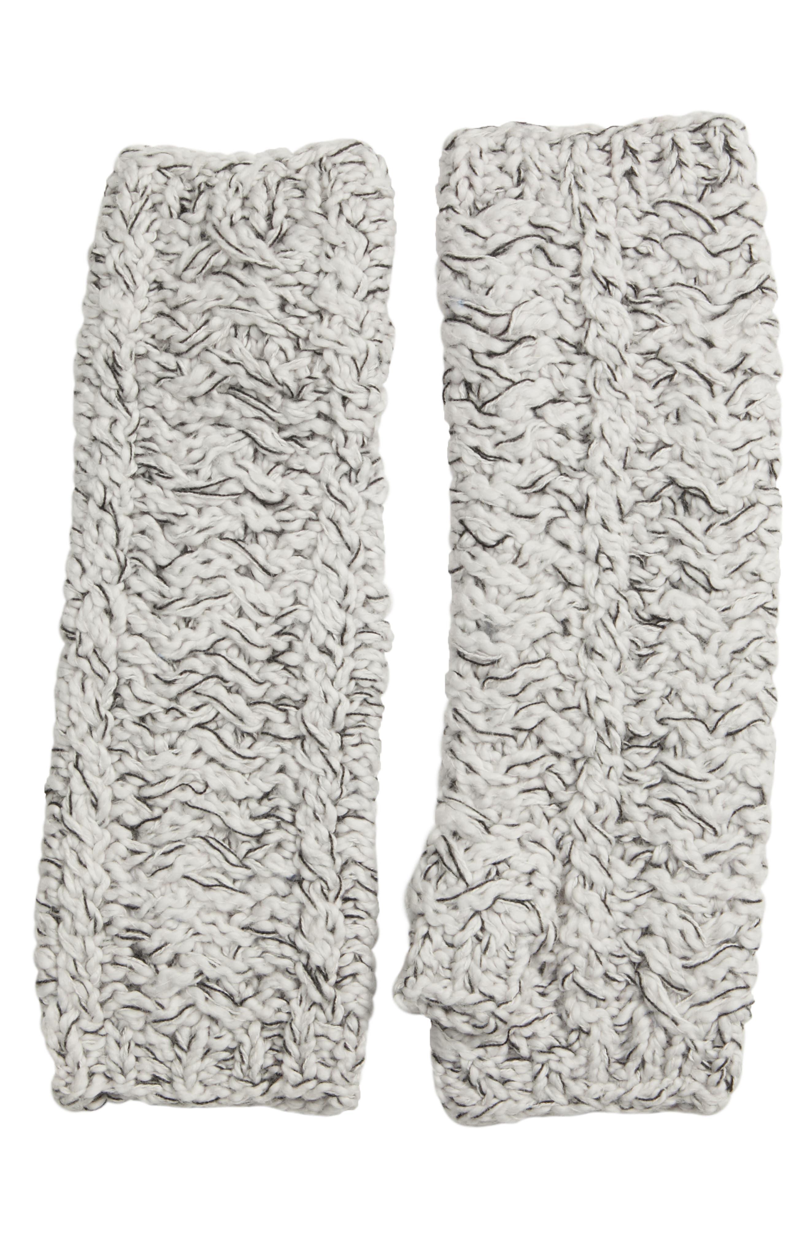 Cotton Knit Glovelettes,                         Main,                         color, PEARL