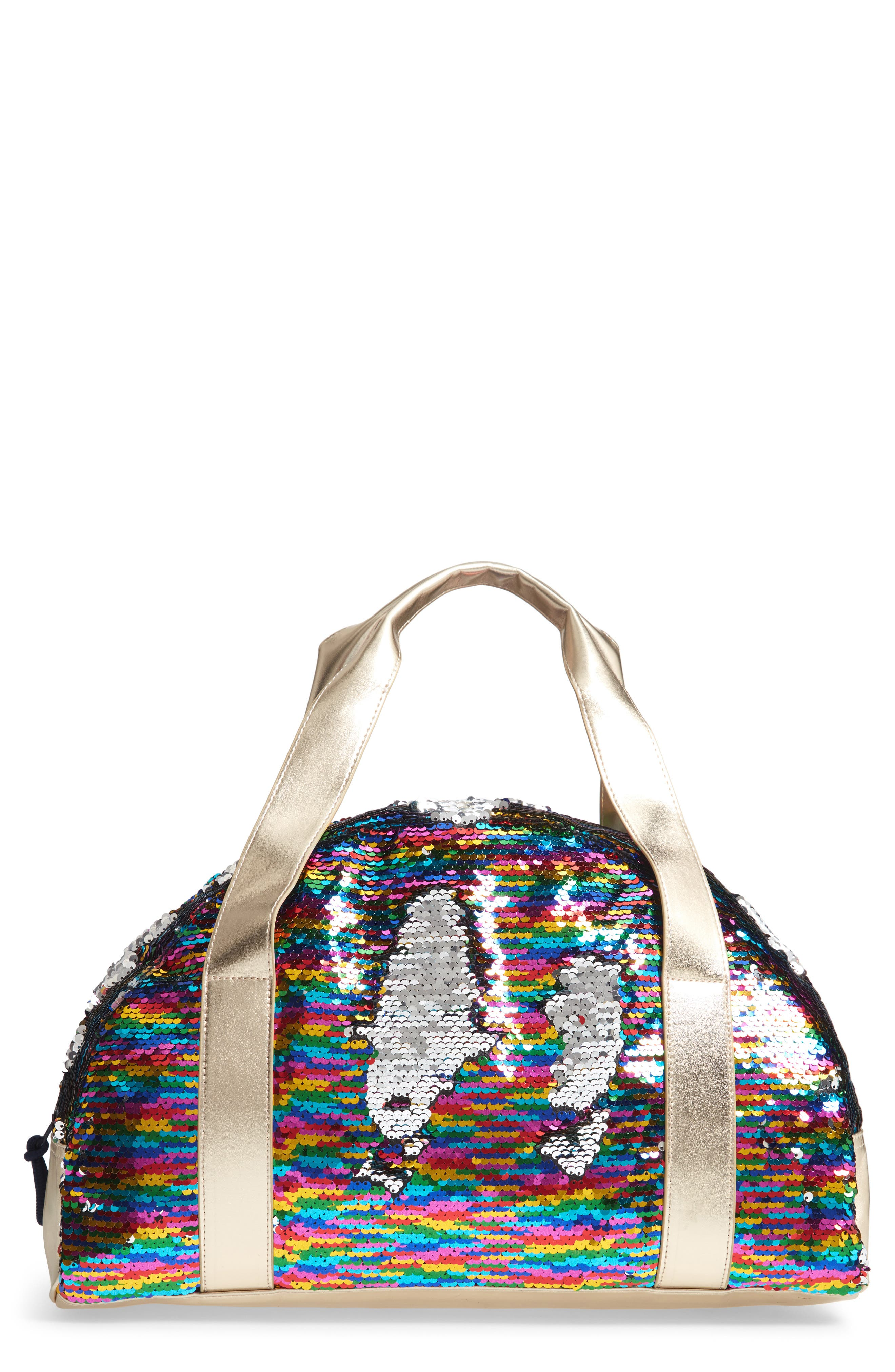 Overnight Bag with Reversible Sequins,                         Main,                         color, 964