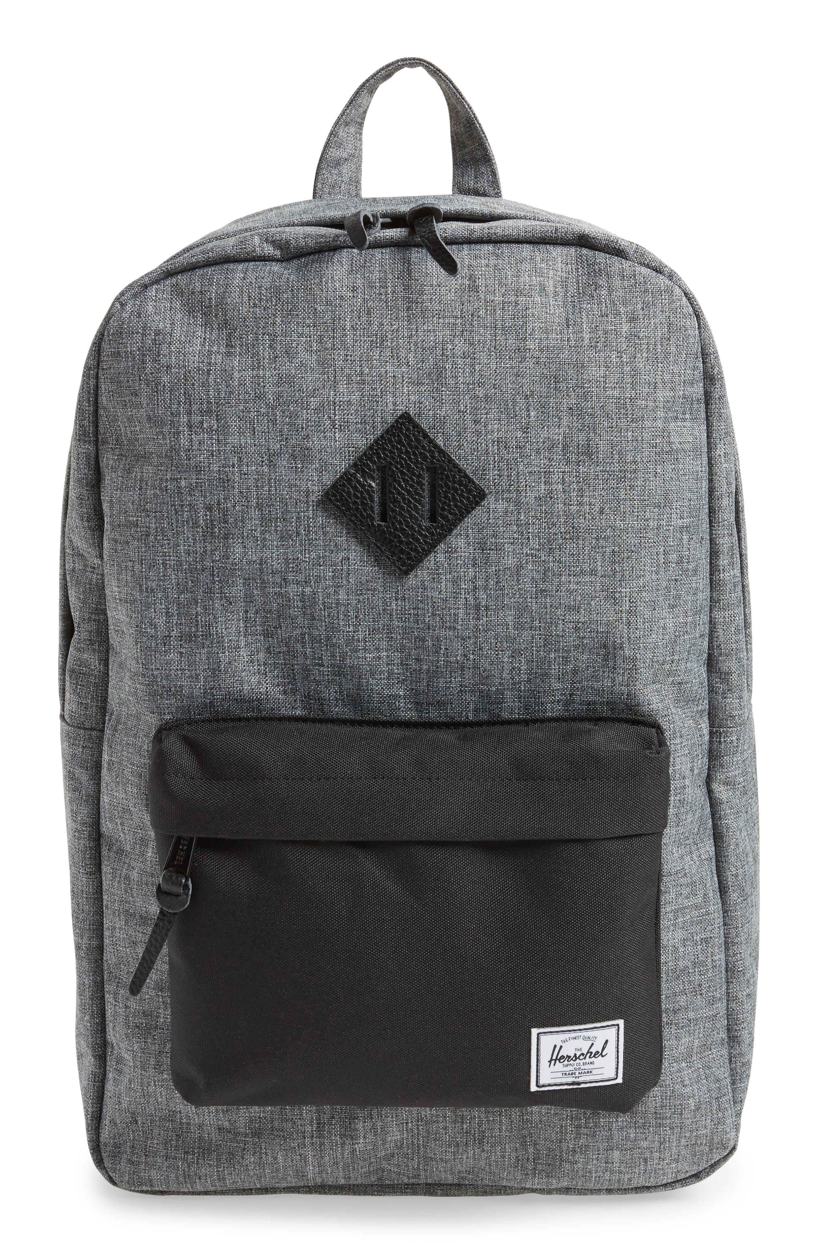 Heritage Backpack,                             Alternate thumbnail 2, color,                             RAVEN CROSSHATCH/ BLACK