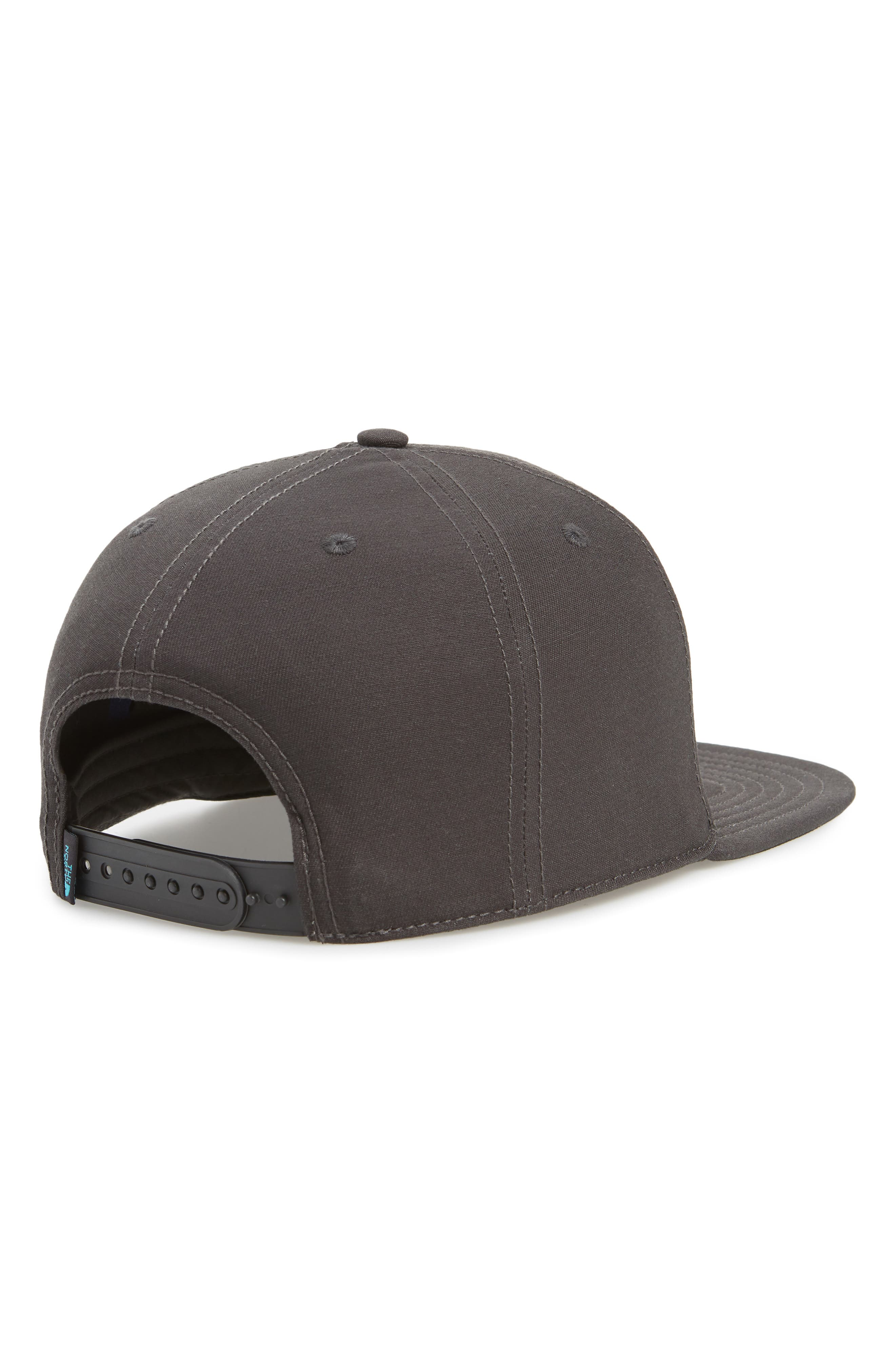 Sunwashed Logo Ball Cap,                             Alternate thumbnail 2, color,                             WEATHERED BLACK/ BLUEBIRD