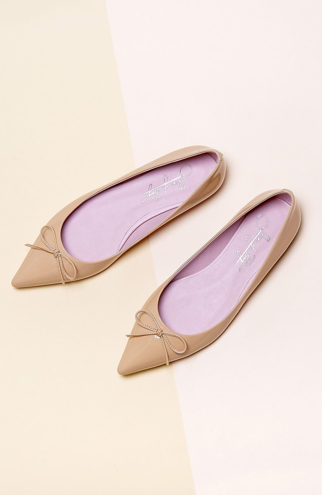 Pointy Toe Ballet Flat,                             Alternate thumbnail 4, color,                             250