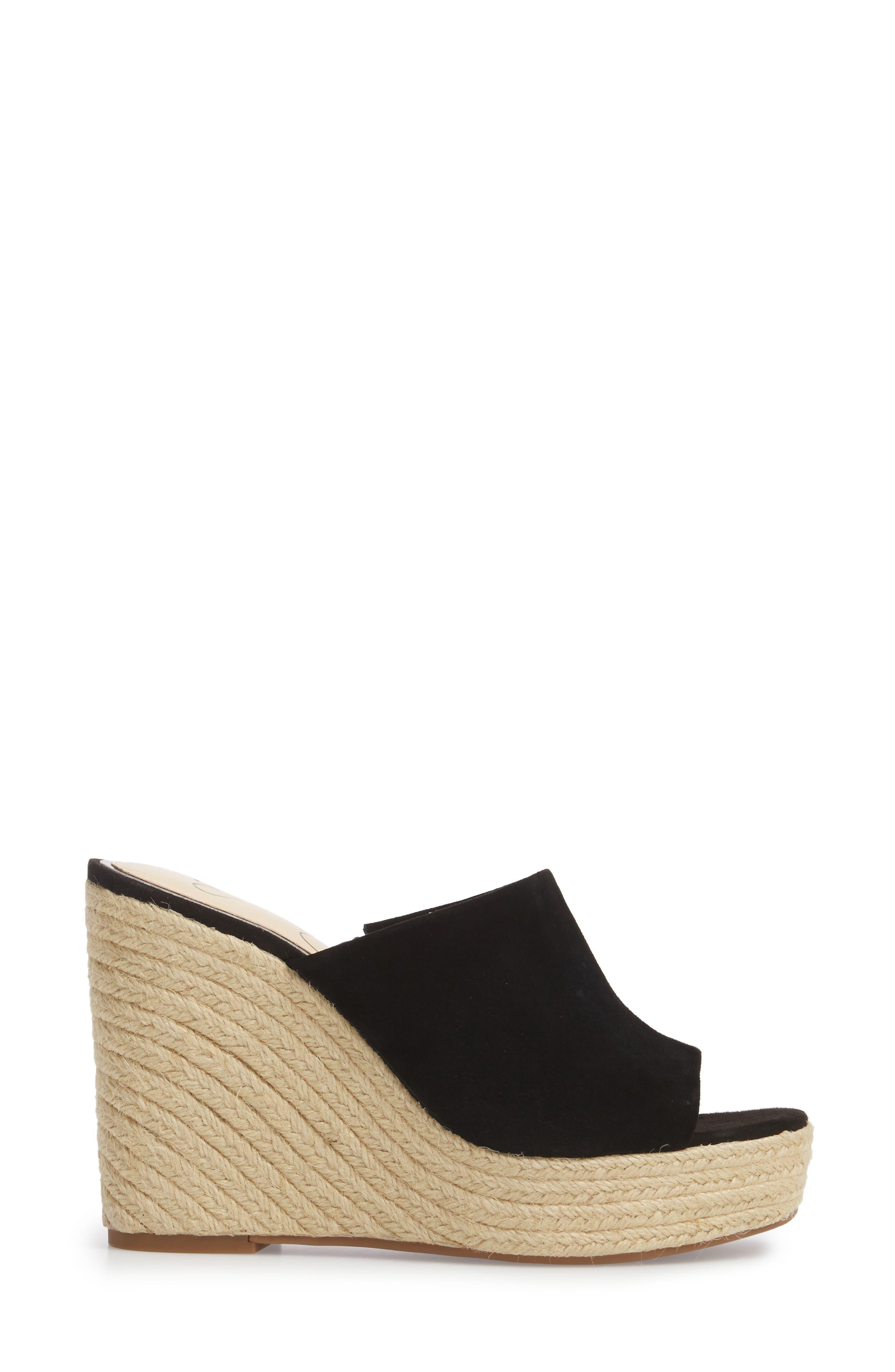 Sirella Platform Wedge Slide Sandal,                             Alternate thumbnail 7, color,