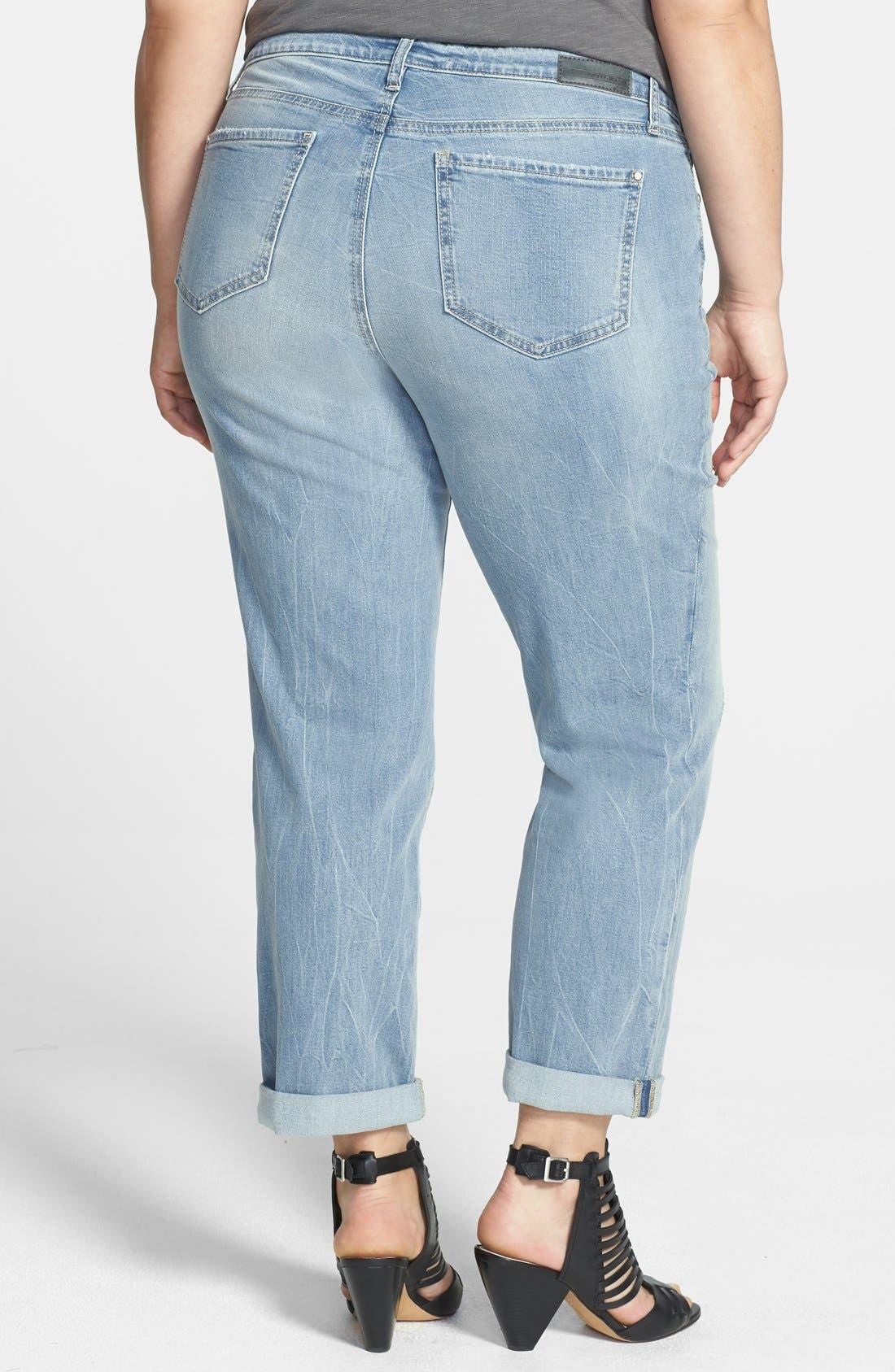 DKNY,                             'Bleecker' Boyfriend Jeans,                             Alternate thumbnail 2, color,                             400