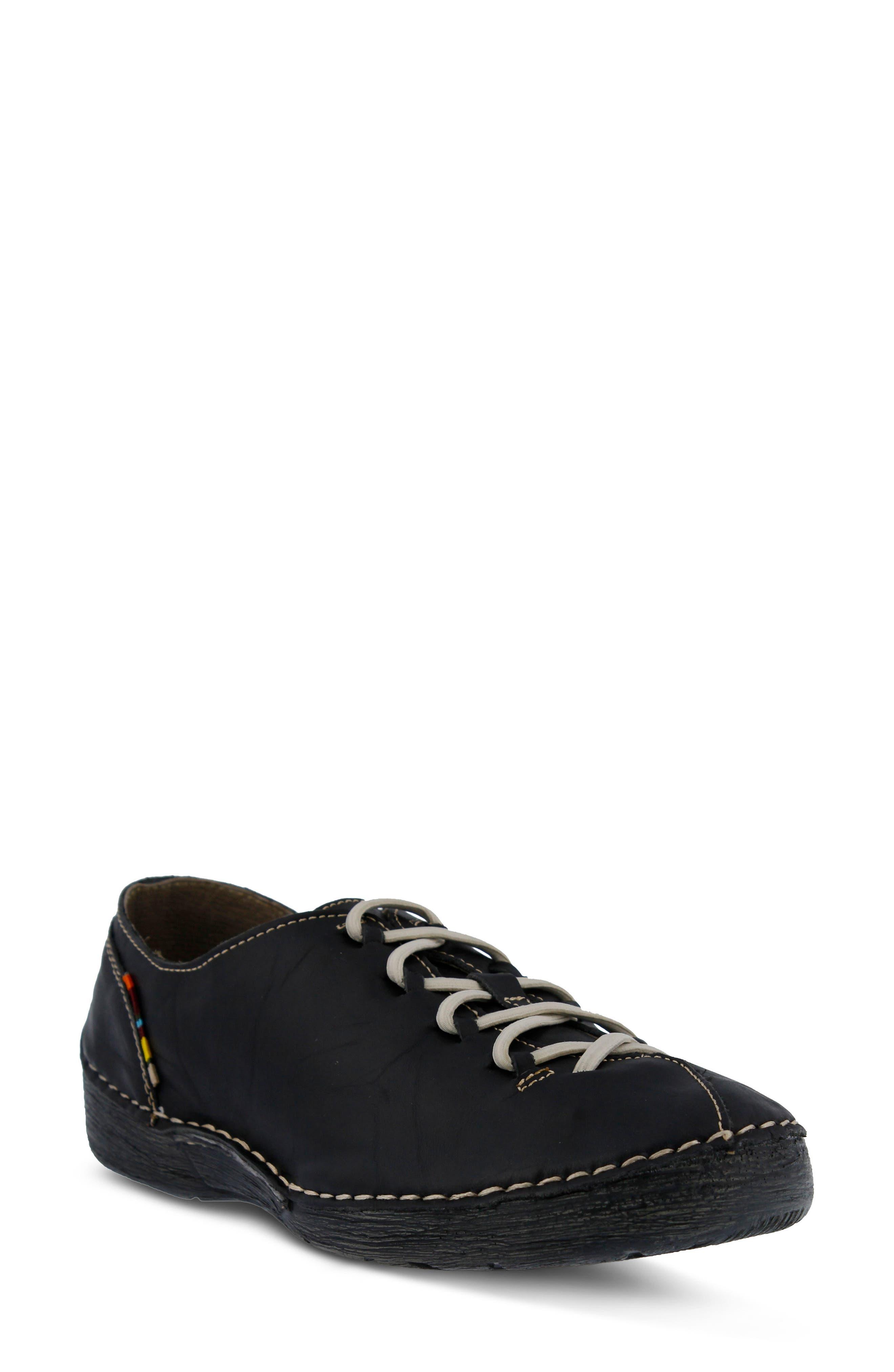 Carhop Sneaker,                         Main,                         color, BLACK LEATHER