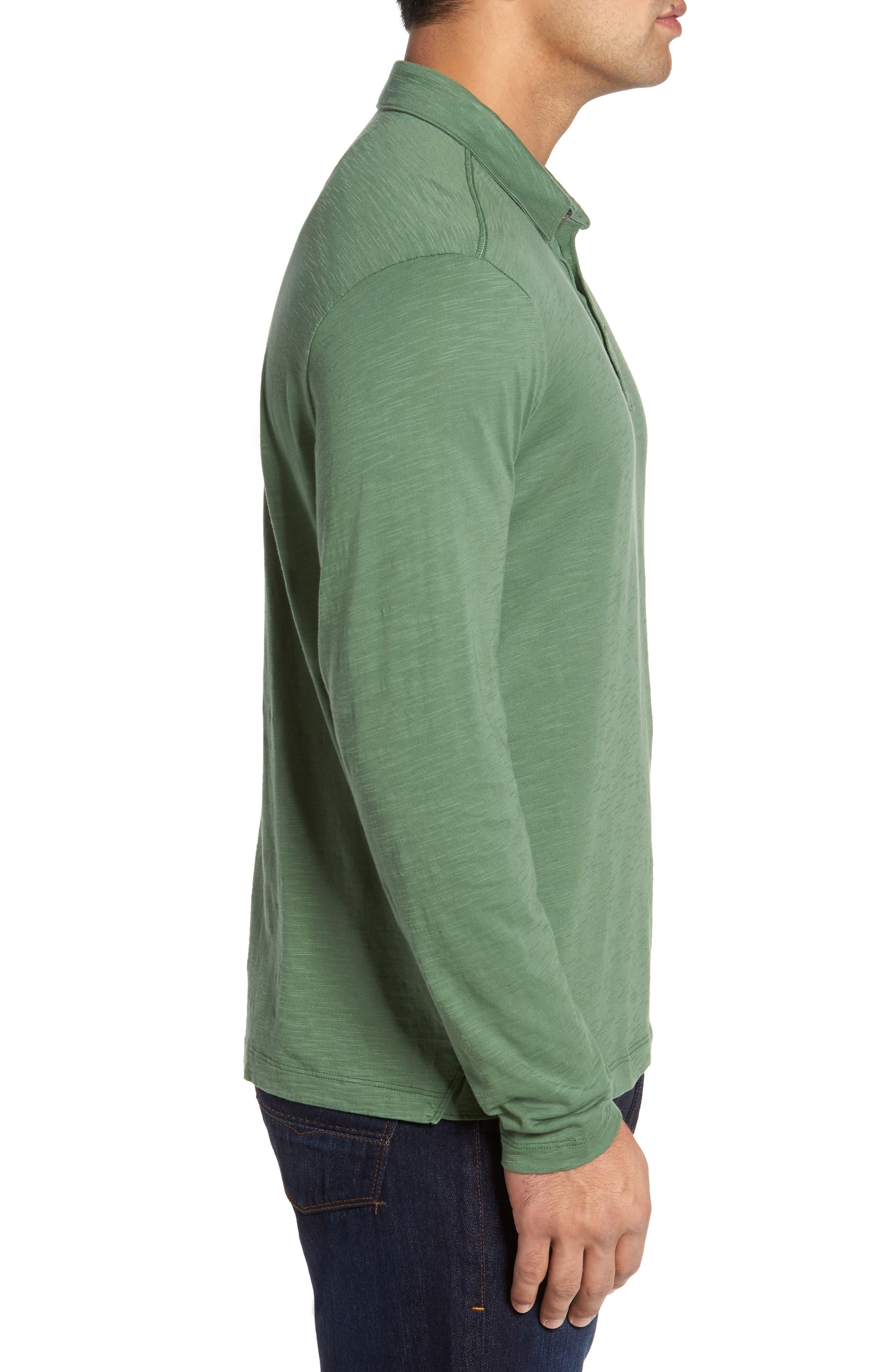 'Portside Player Spectator' Long Sleeve Jersey Polo,                             Alternate thumbnail 3, color,                             301