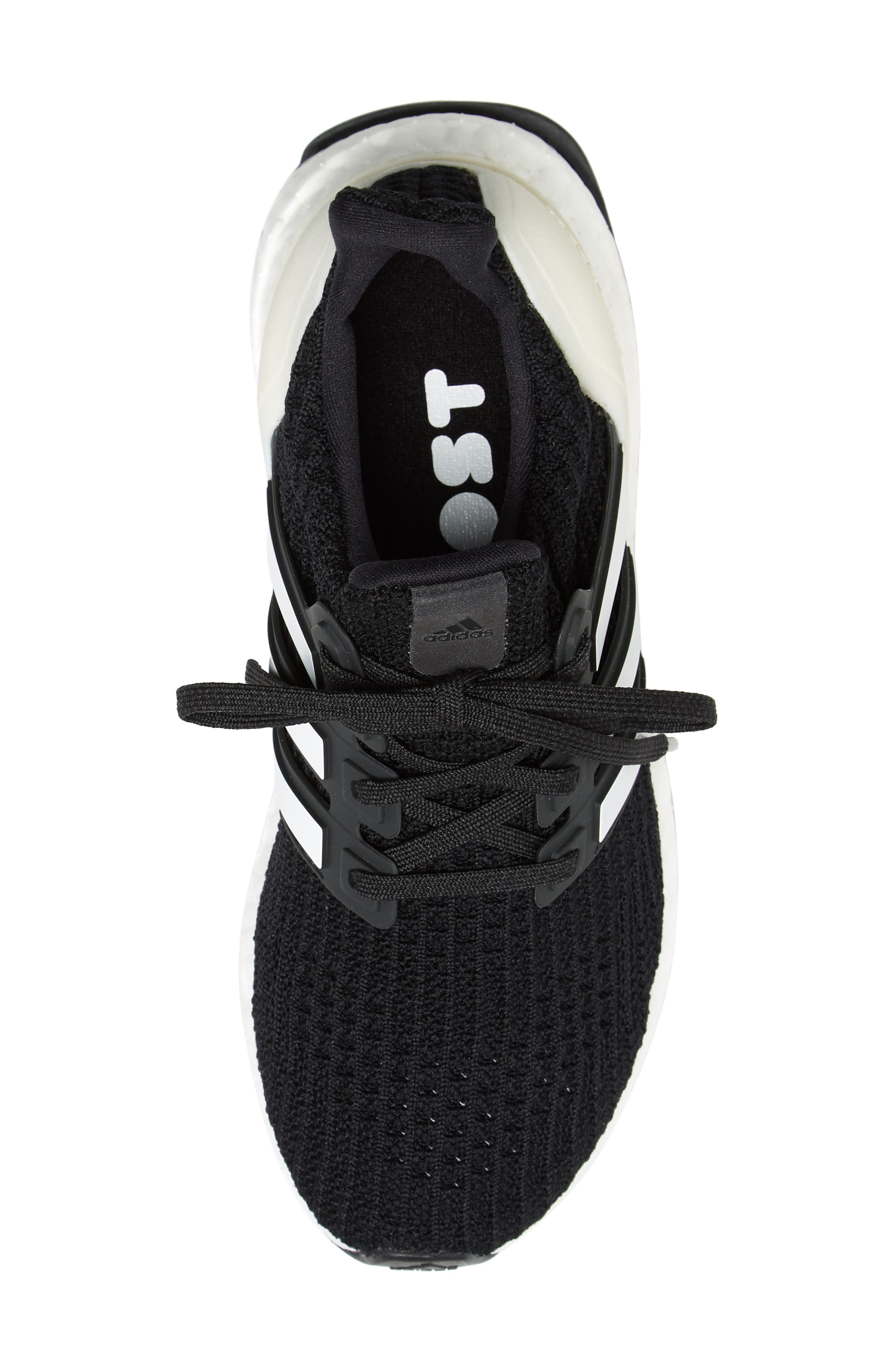 UltraBoost Sneaker,                             Alternate thumbnail 5, color,                             BLACK/ CLOUD WHITE/ CARBON