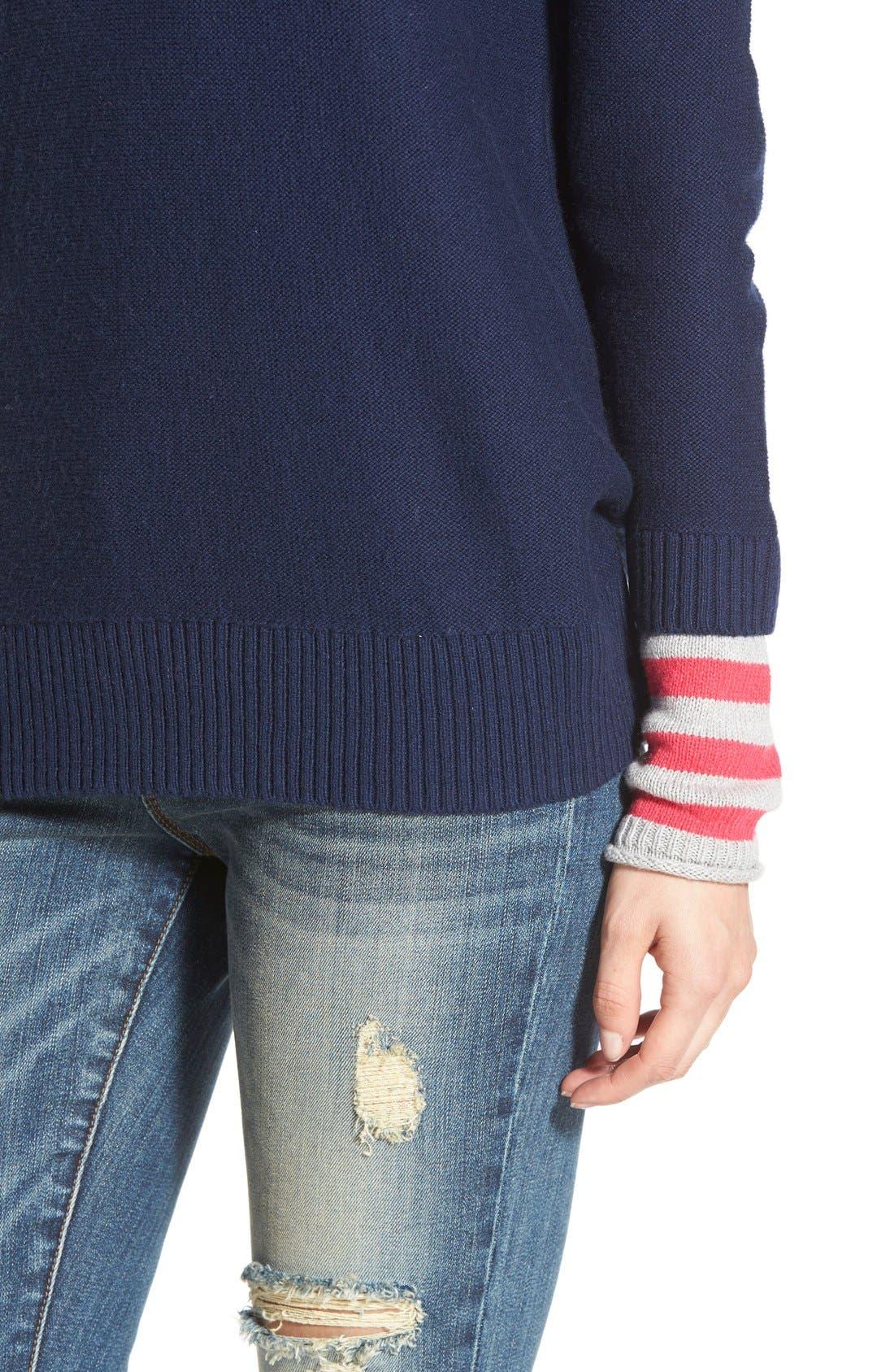 Contrast Cuff Crewneck Sweater,                             Alternate thumbnail 74, color,